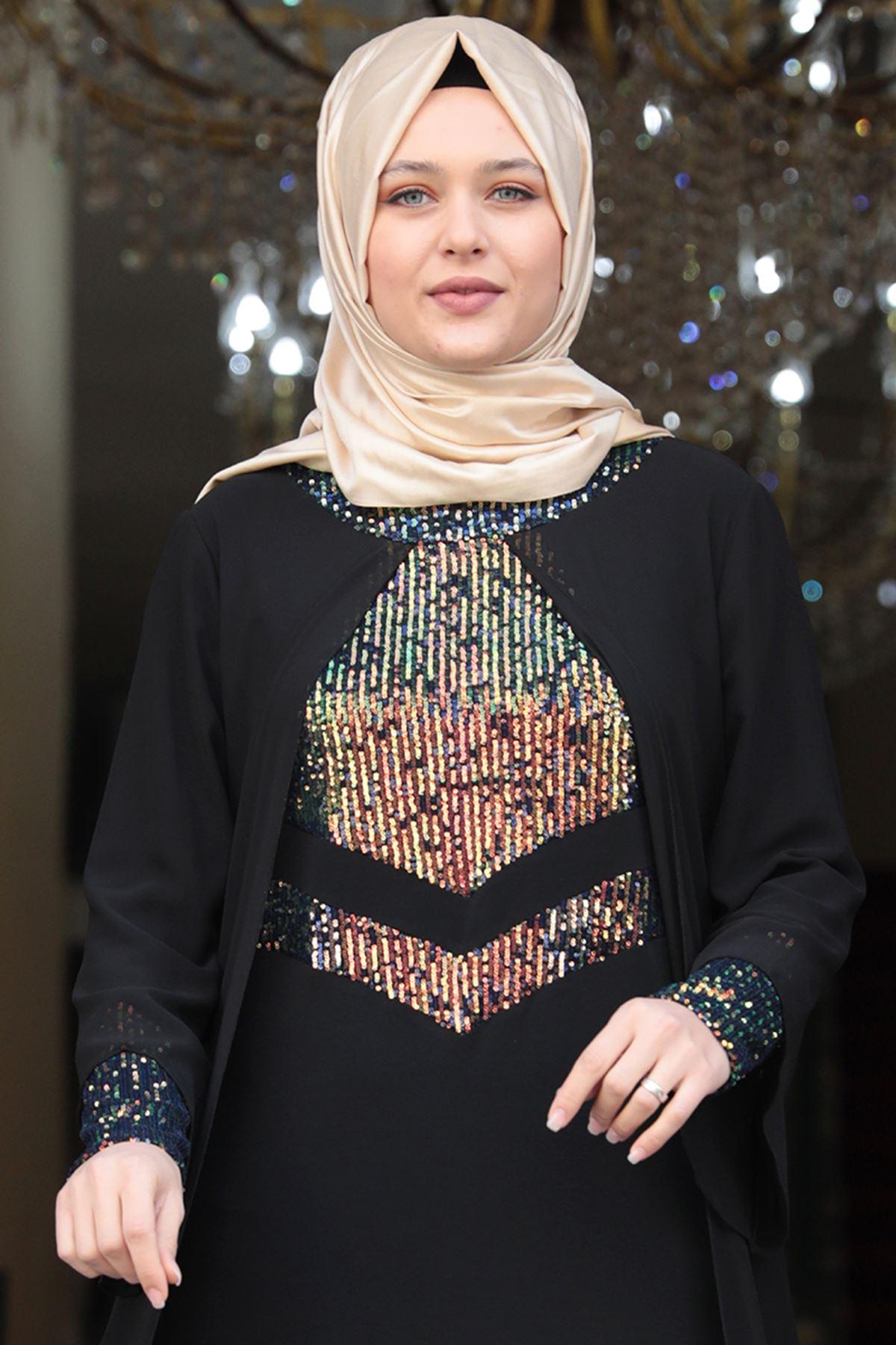 Amine Hüma - Narin Abiye Siyah AMİ1036