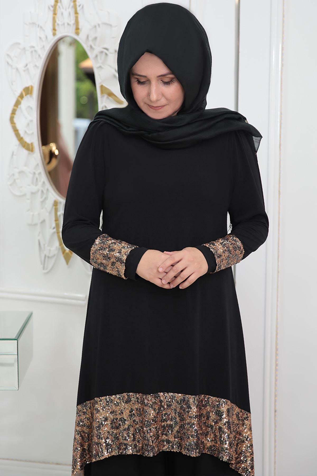 Pınar Şems - Leoparlı Takım Siyah