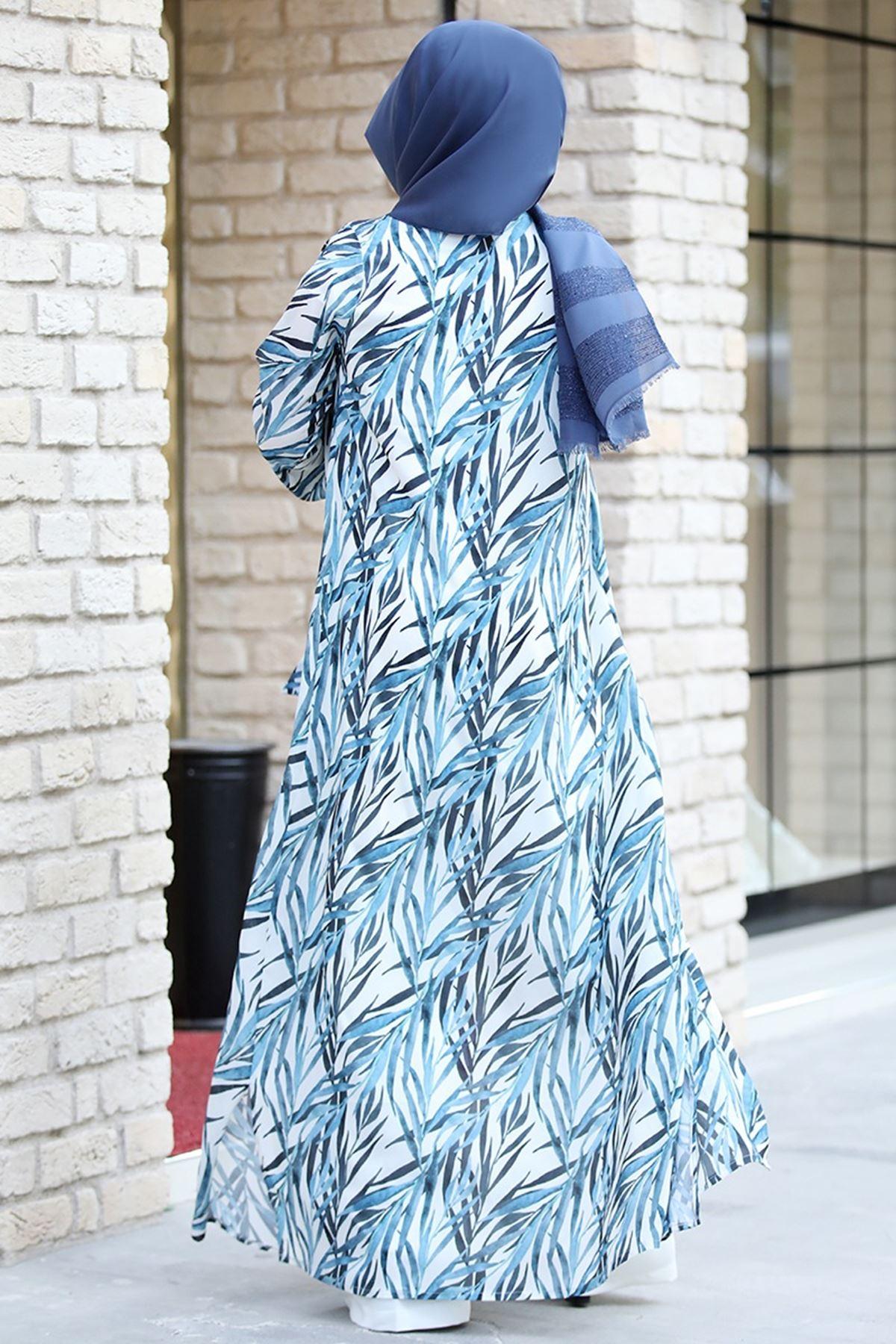 Pınar Şems - Açelya Ceket İndigo