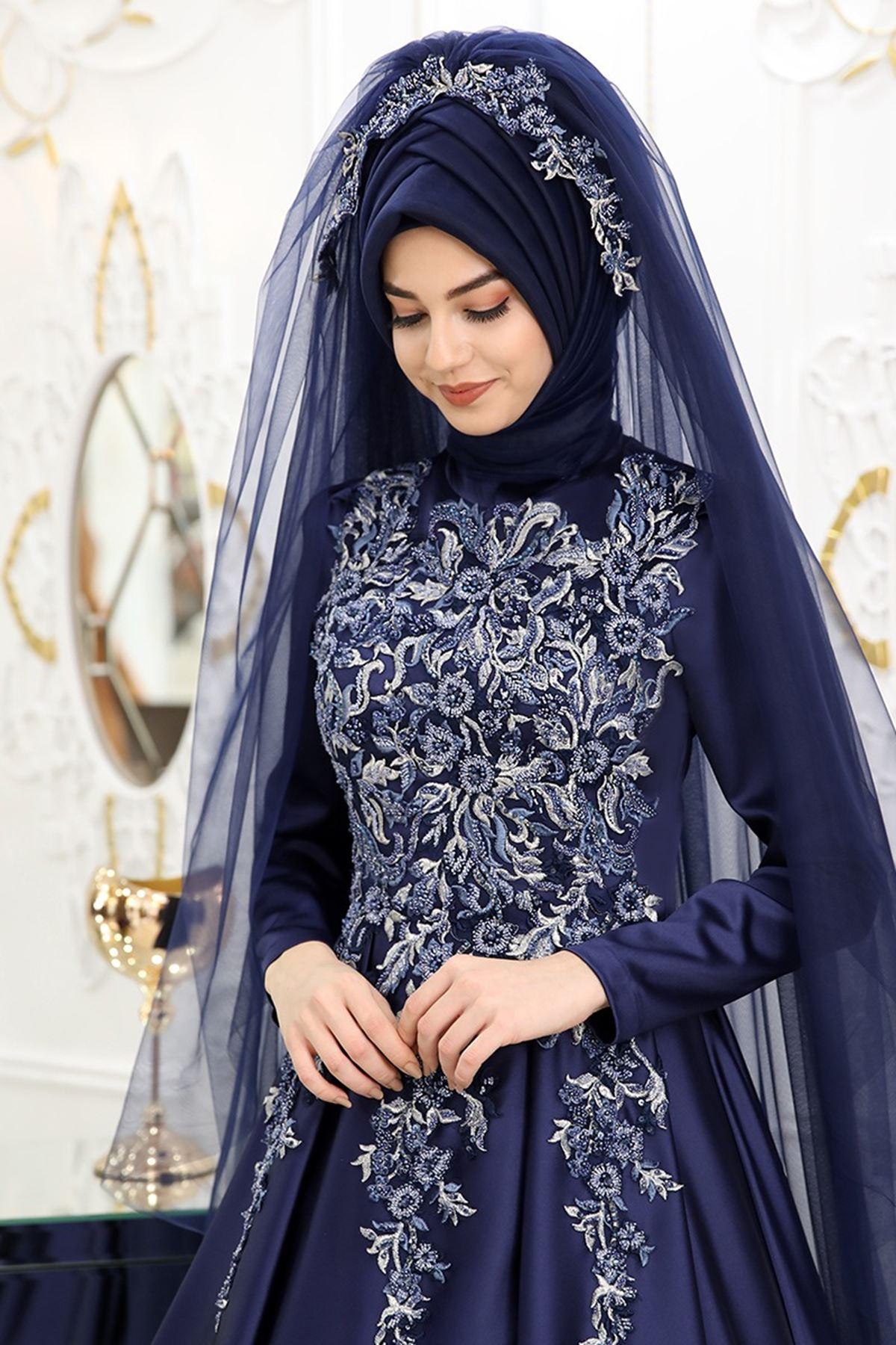 Pınar Şems - Şimal Abiye Lacivert