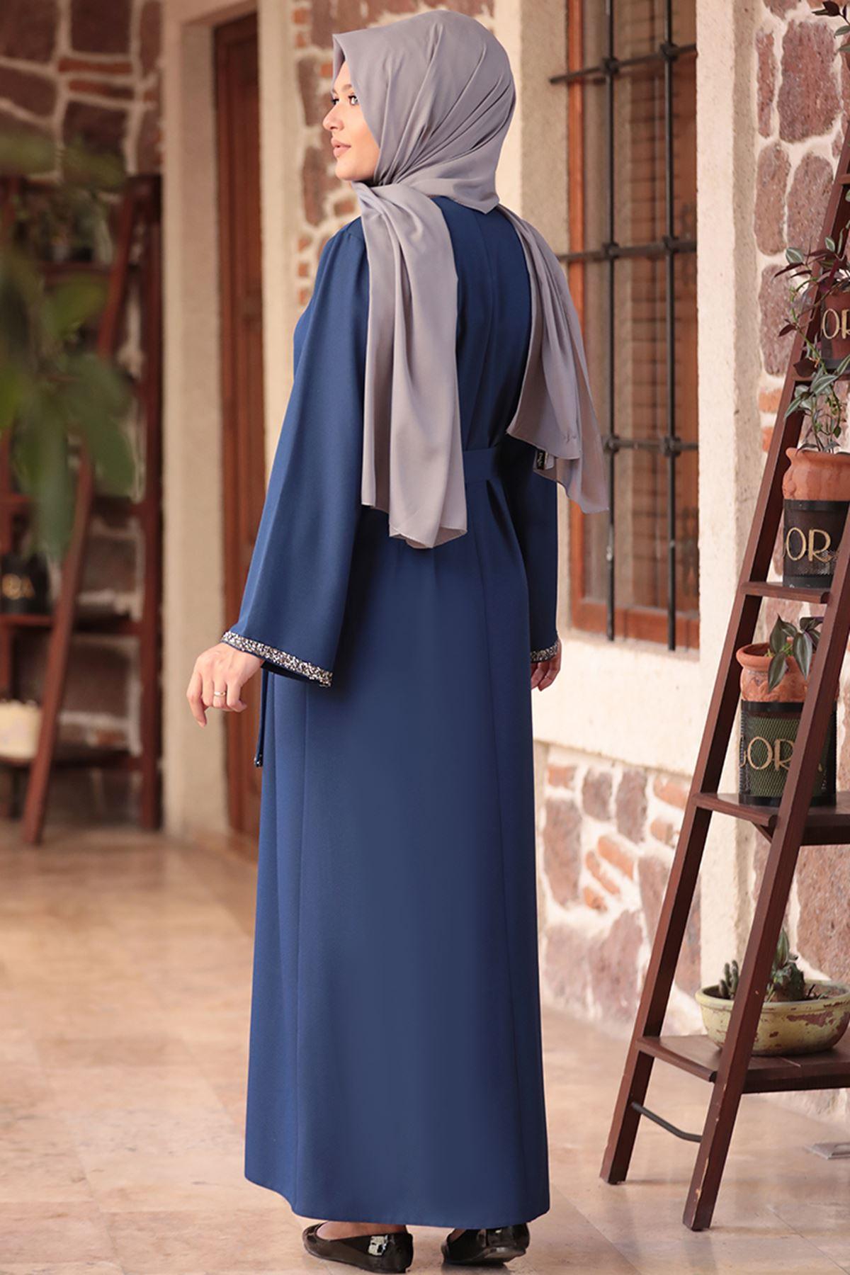 Amine Hüma - Aksa Elbise İndigo AMİ1045