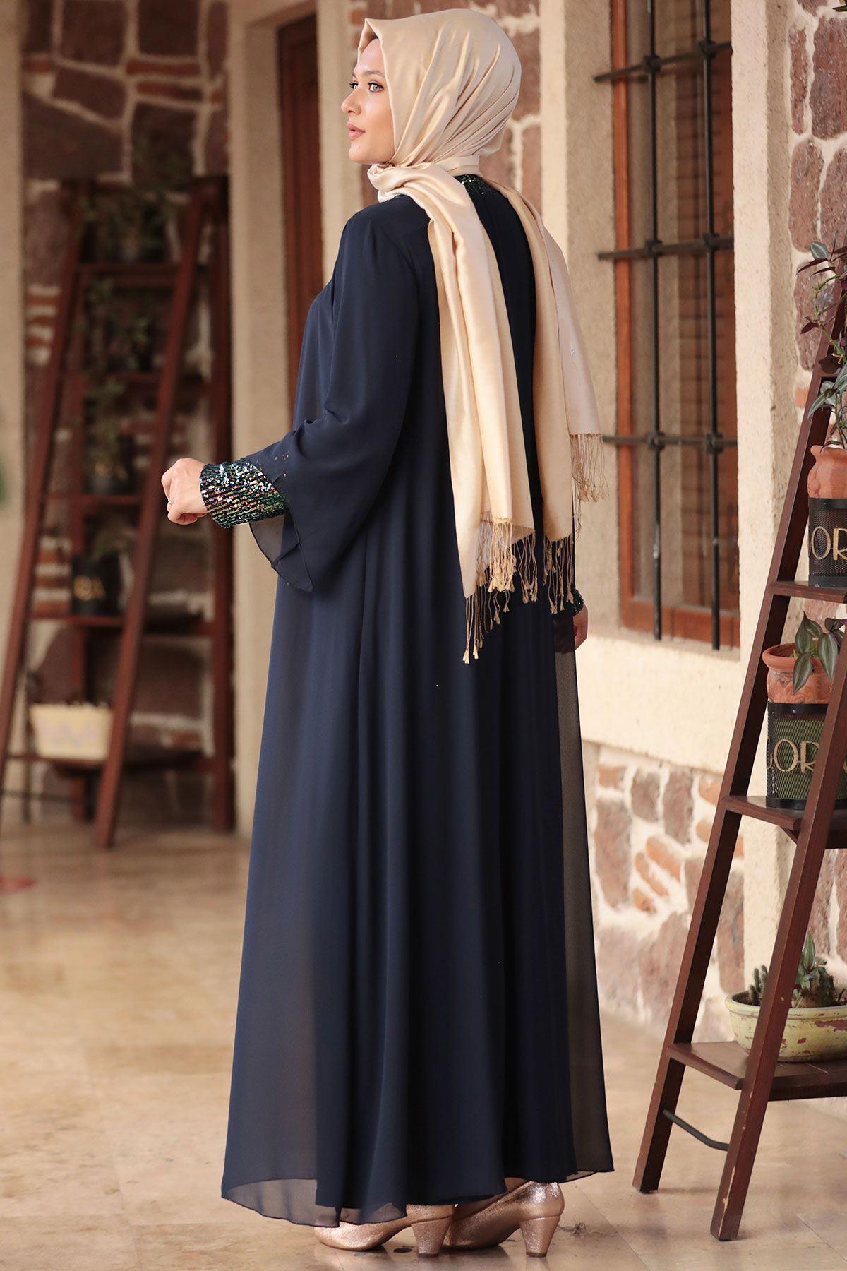 Amine Hüma - Narin Abiye Lacivert AMİ1036