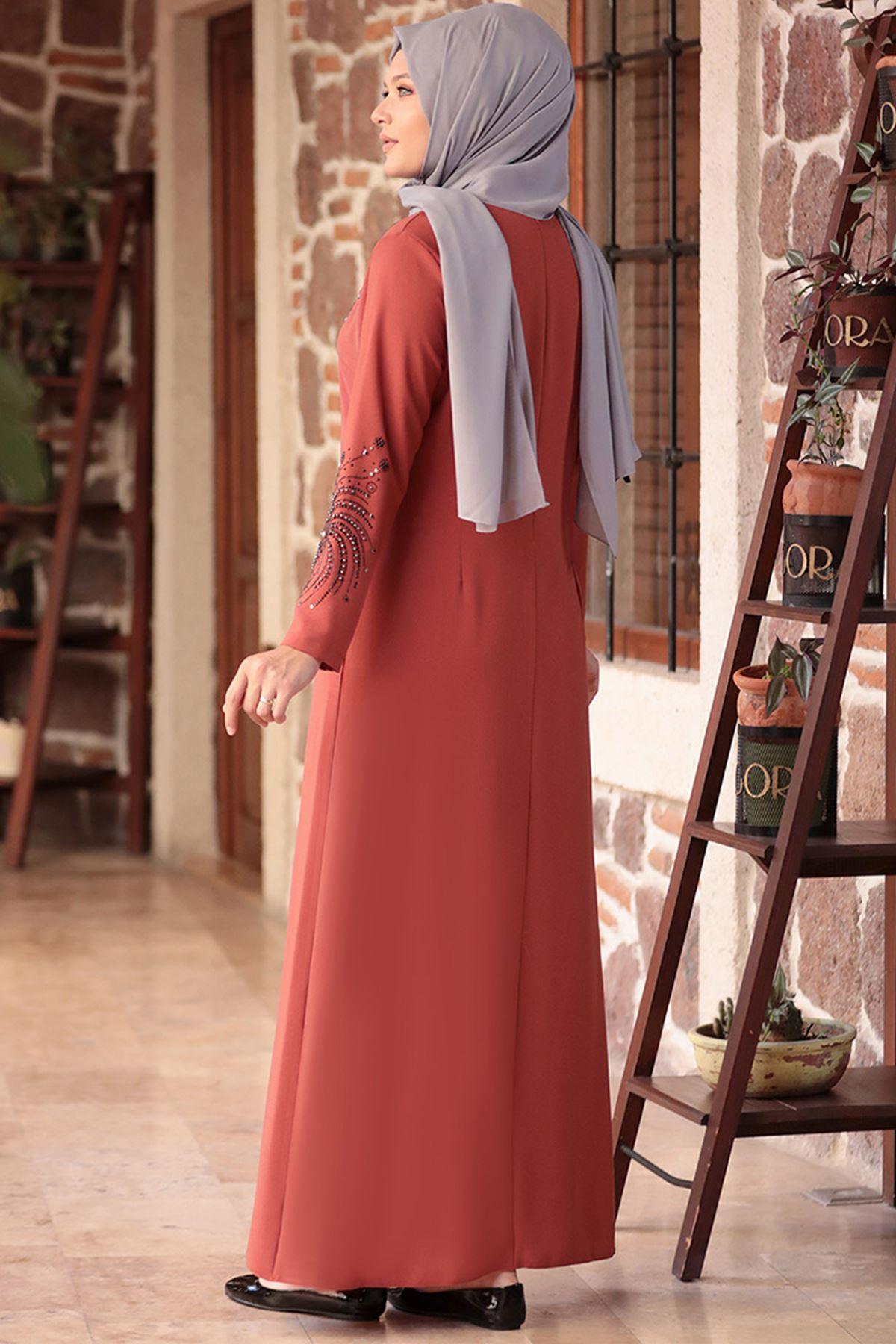 Amine Hüma - Sema Elbise Kiremit AMİ1034