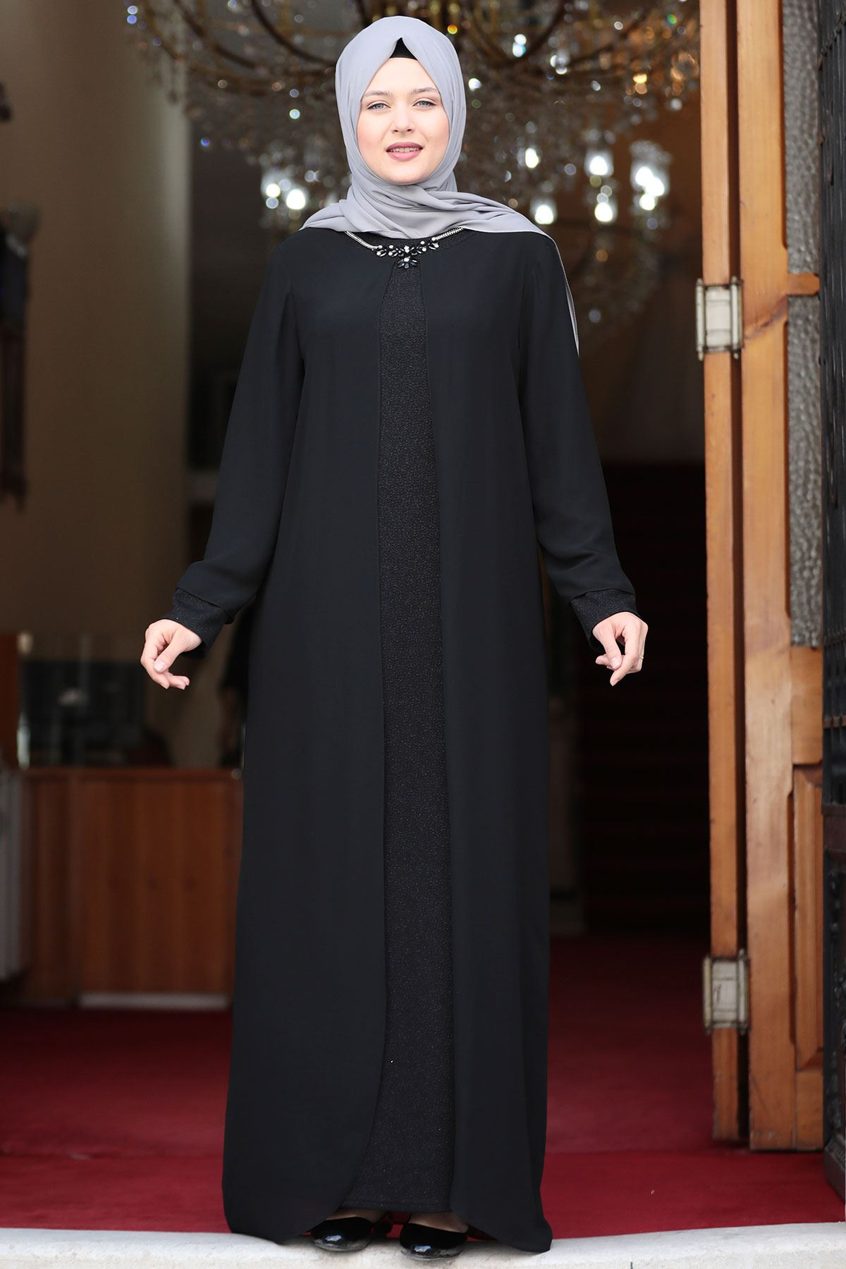 Amine Hüma - Parıltı Abiye Siyah AMİ1033