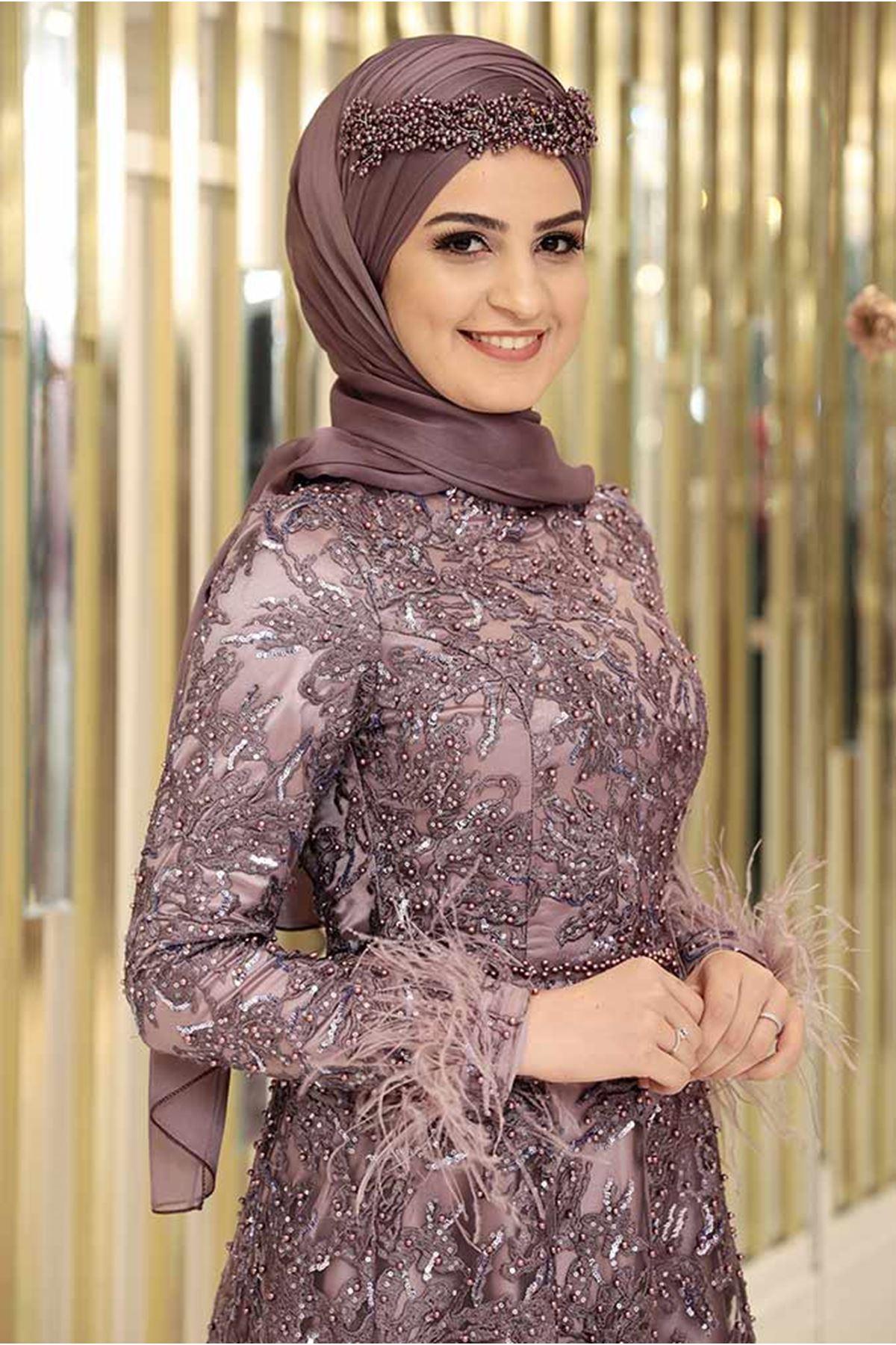Pınar Şems Gülnur Abiye Lila PNR6114