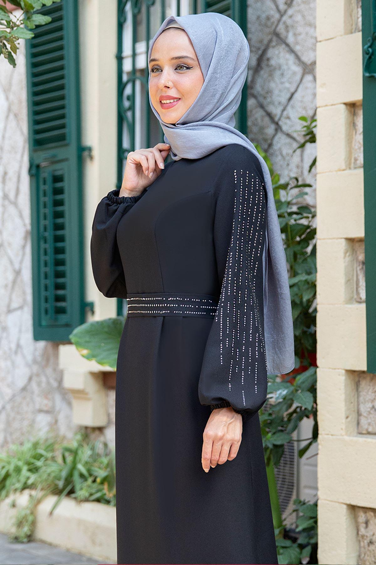 Havin Elbise Siyah