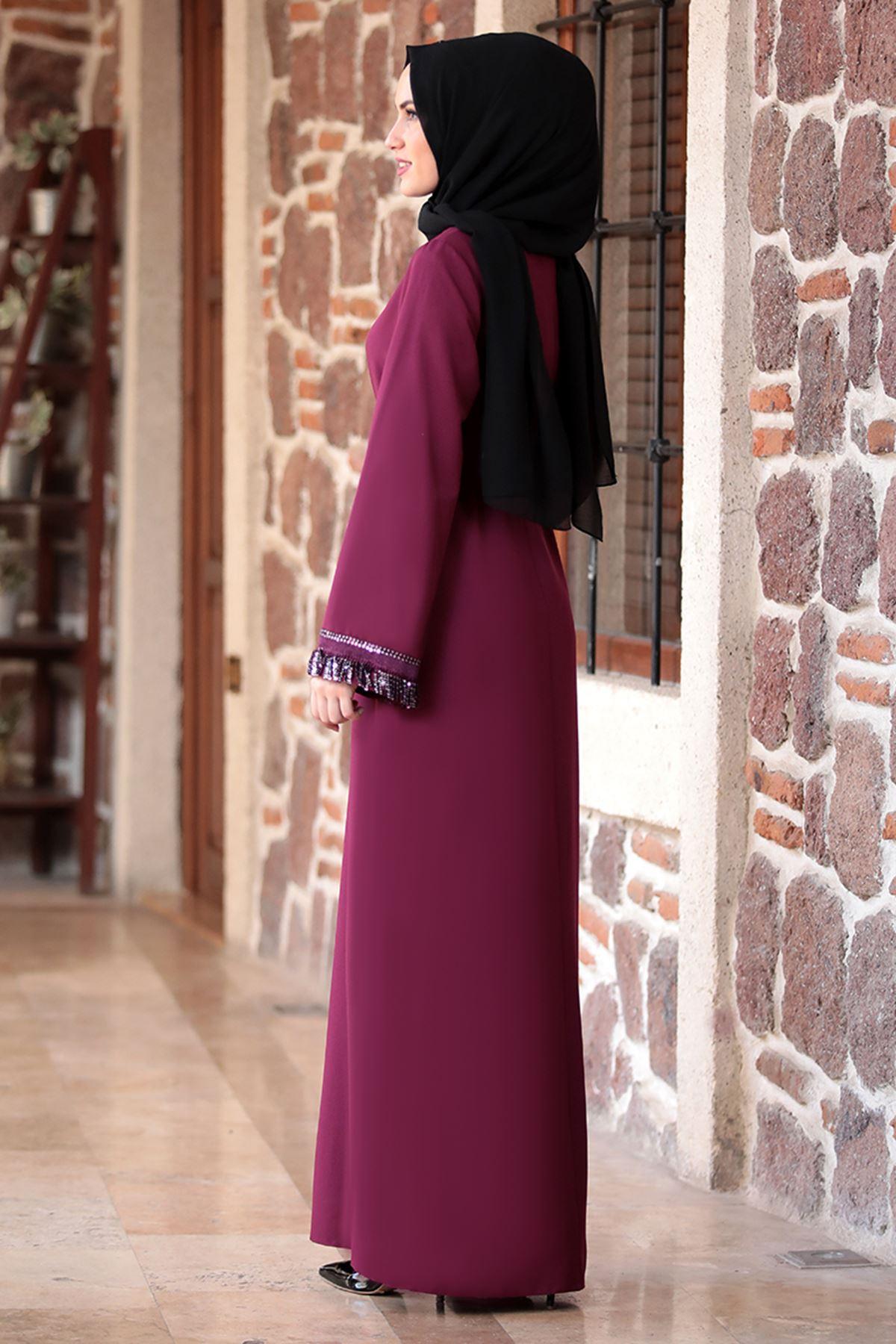Emsale Henna Elbise Mürdüm EMS8307