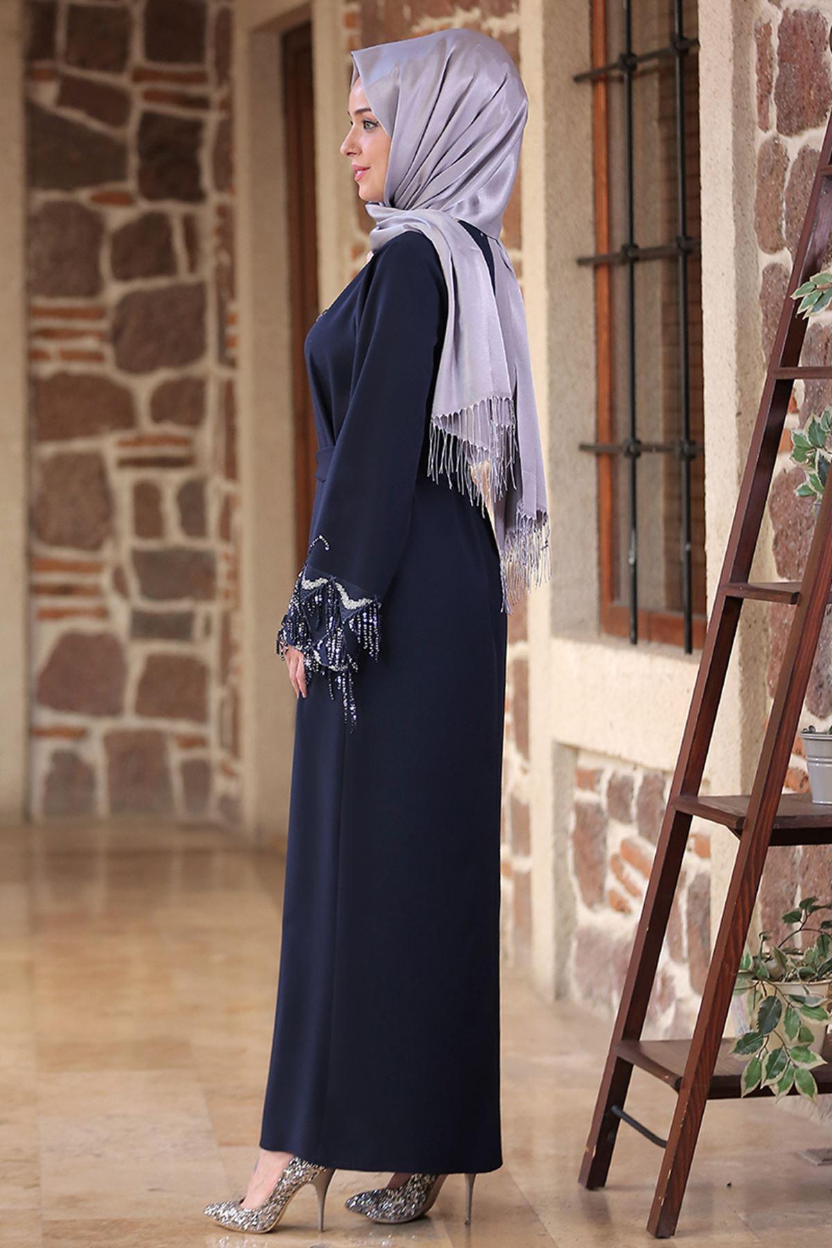 Duru Elbise Lacivert