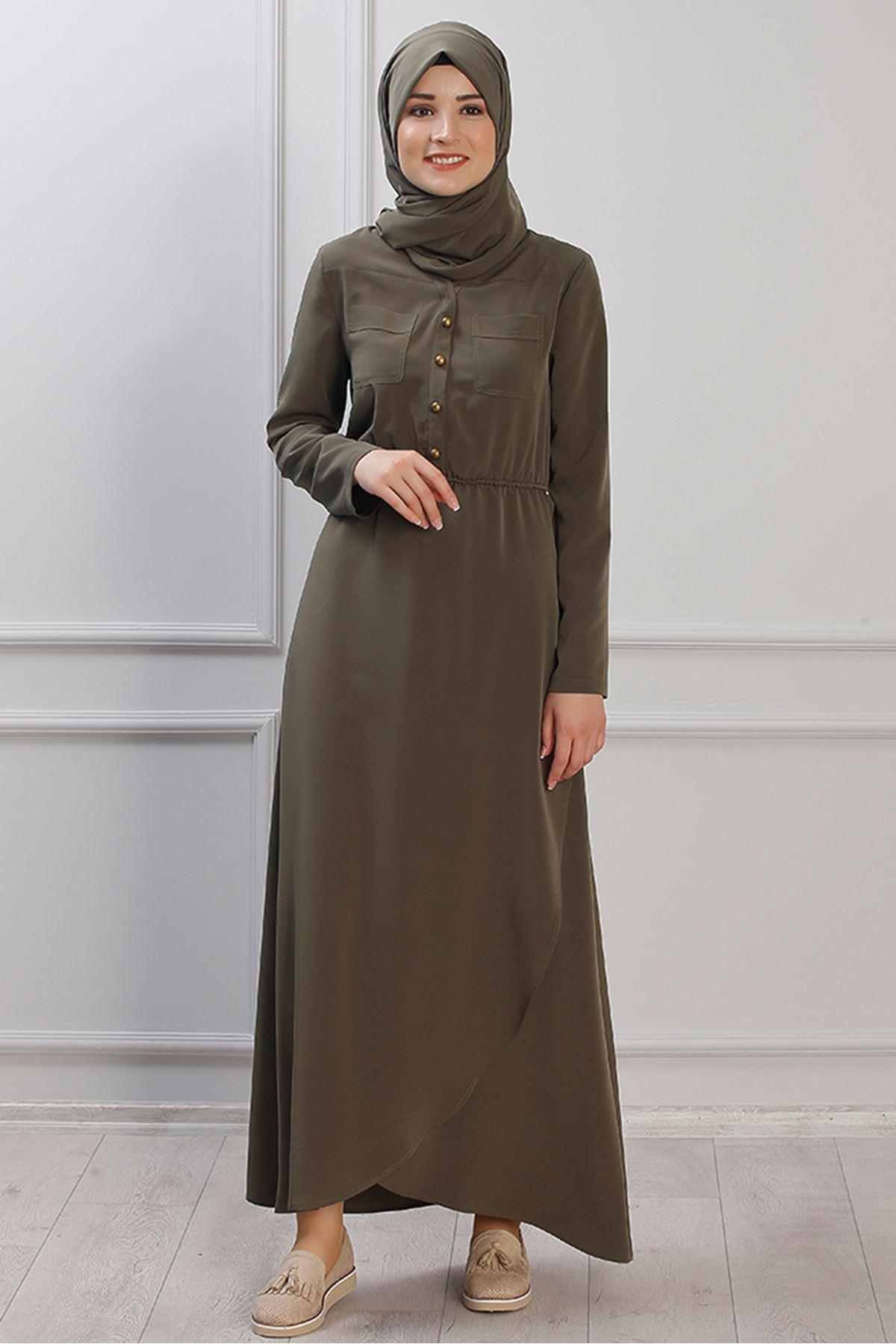 Ayça Dress Khaki