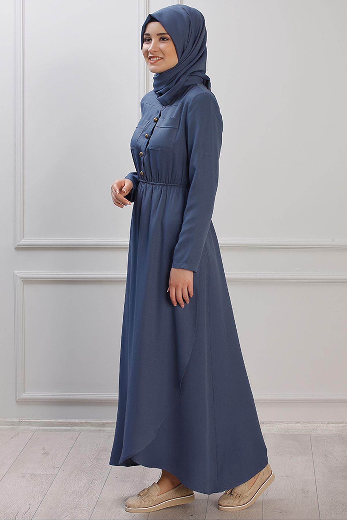 Ayça Elbise İndigo