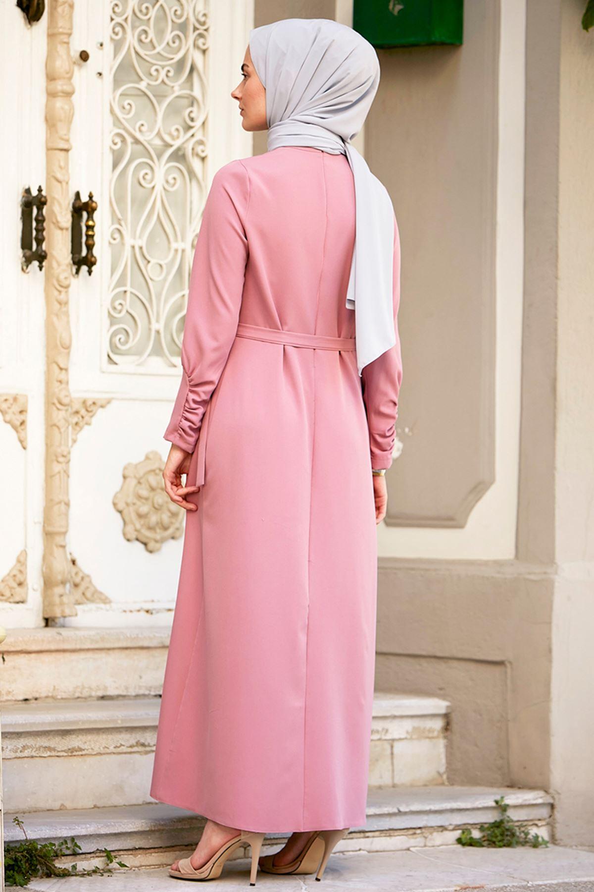 İvory Elbise Pudra
