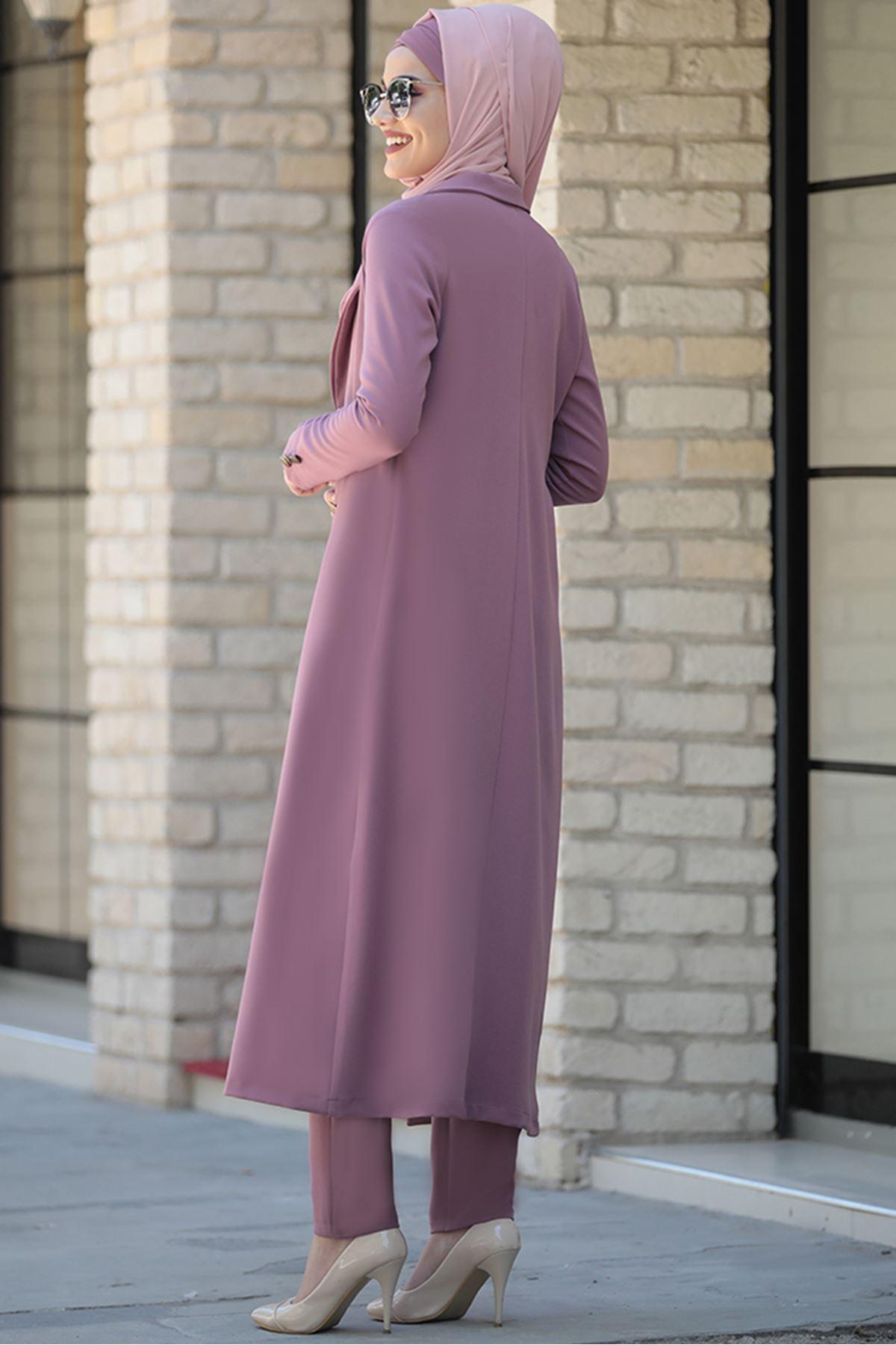 Piennar Rabia Ceket Pantolon Takım Lila PİE1502