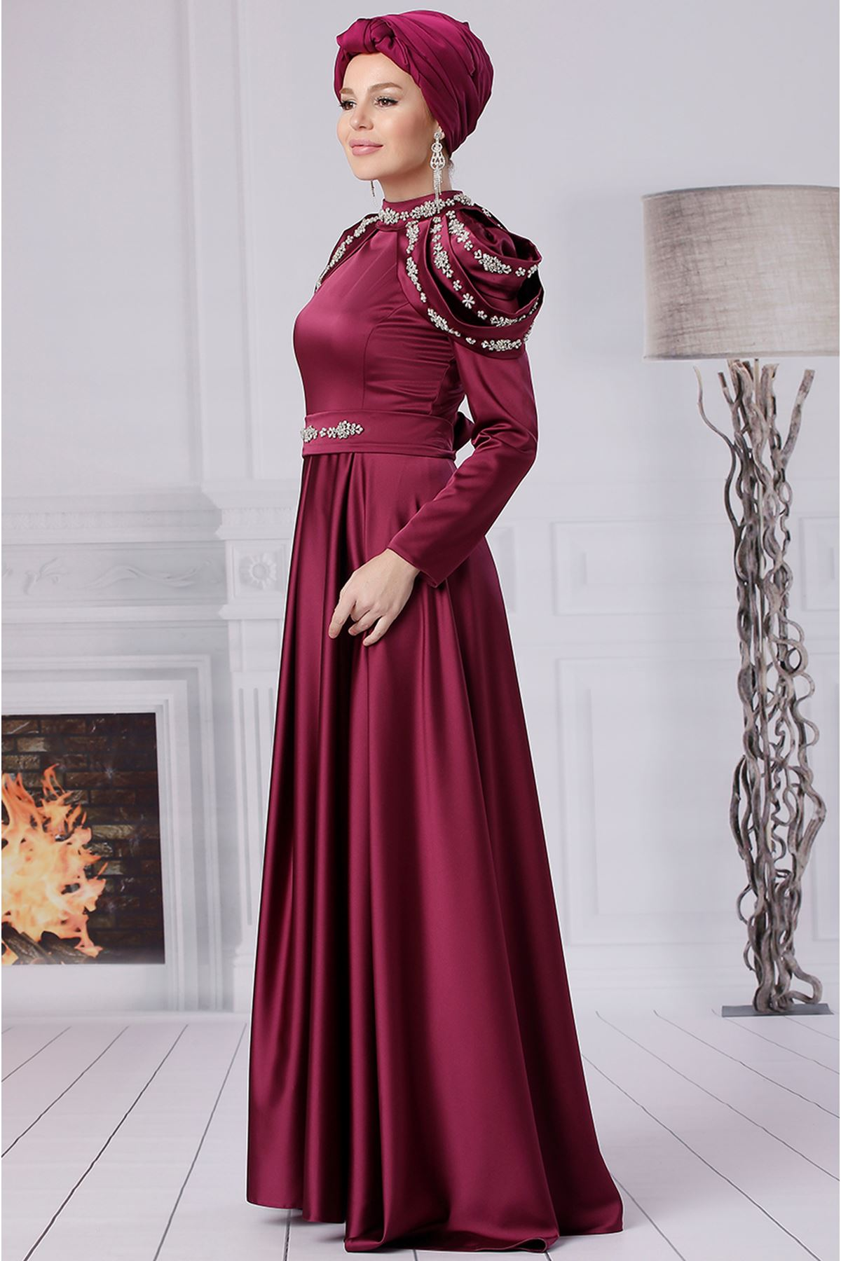 Fahrunnisa Afife Abiye Fuşya FAH8001