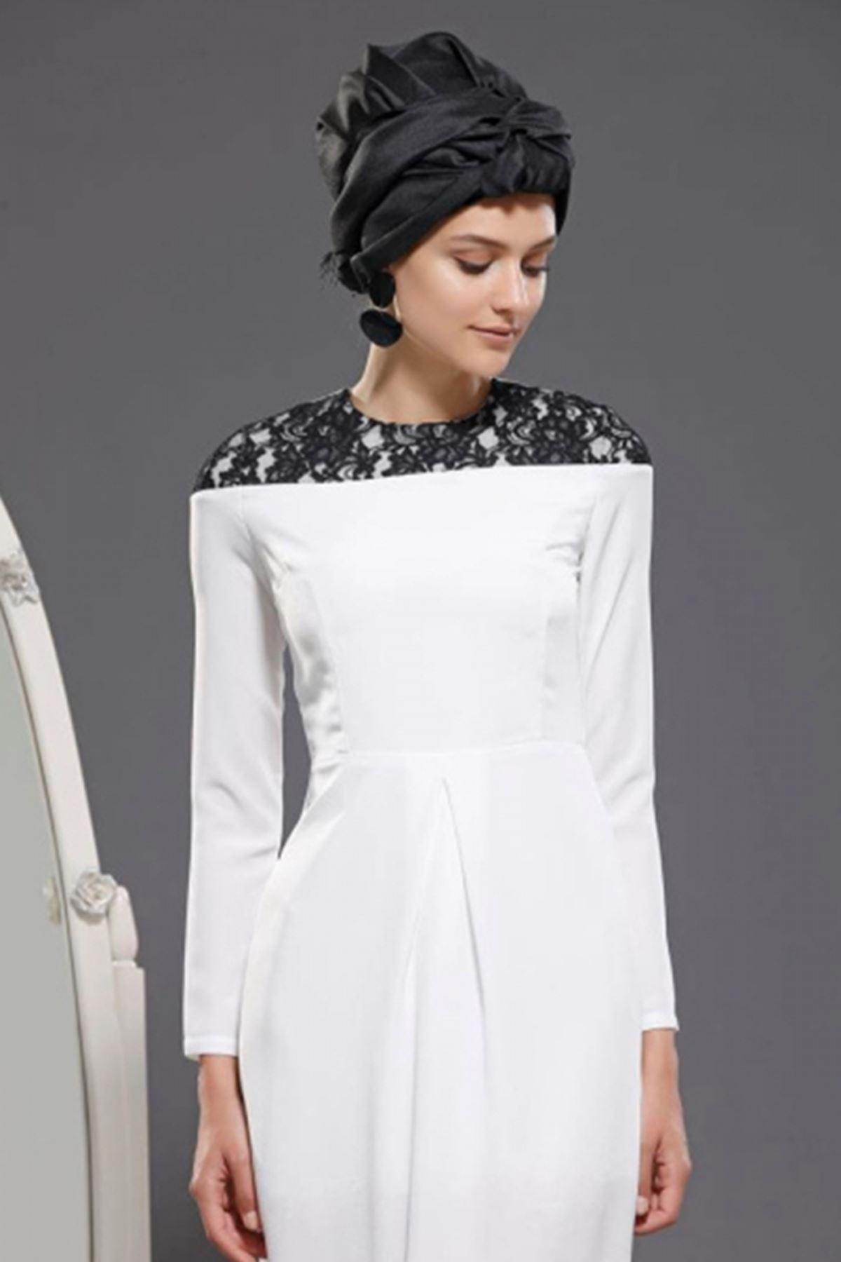 Fahrunnisa - Begüm Elbise Ekru FAH8006