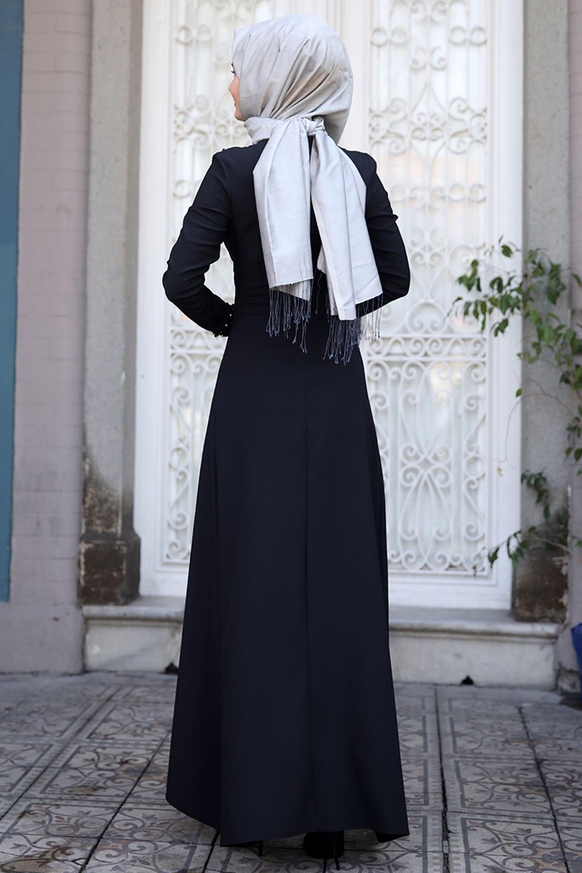 Sümay İnci Elbise Siyah SÜM5004