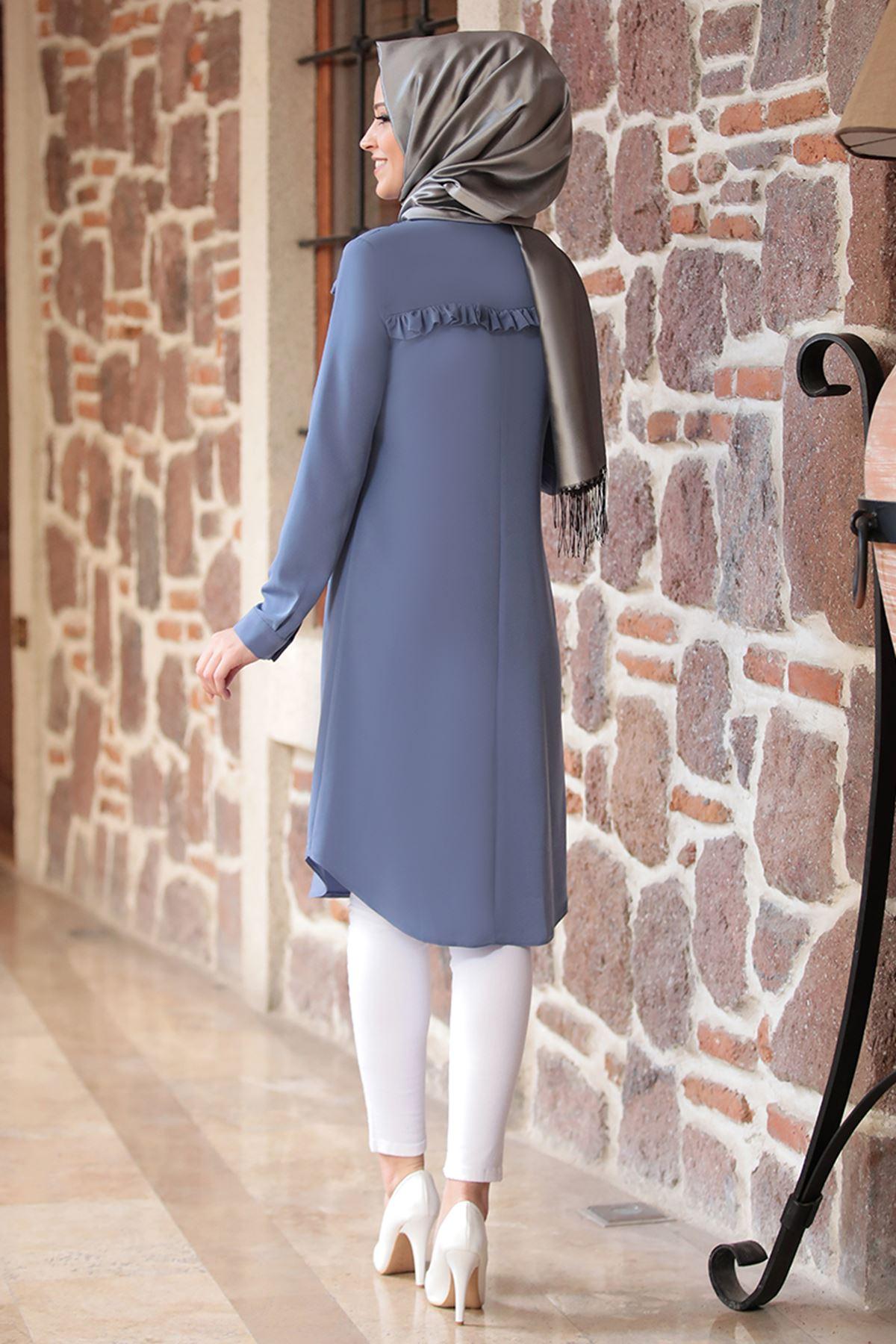 DressLife Akasya Tunik İndigo DRE2015