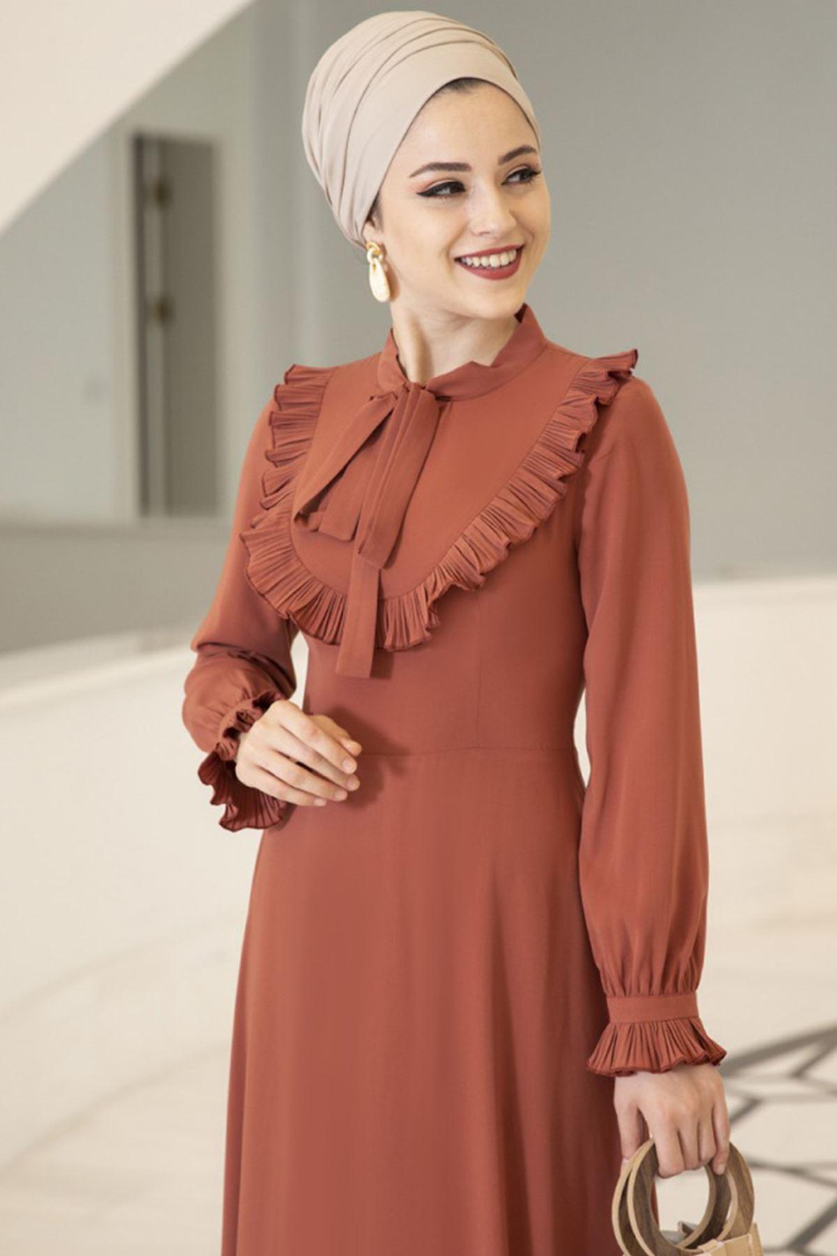 Irmak Dress Kiremit