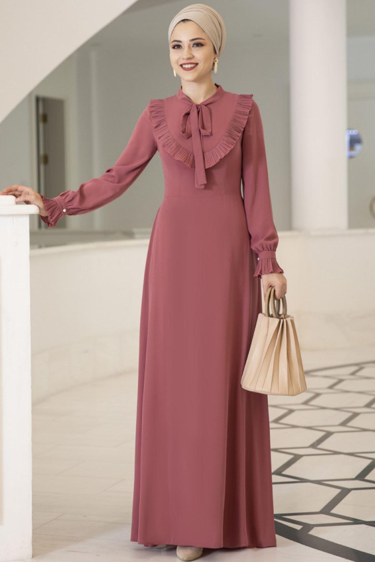 Dresslife Irmak Elbise Gül Kurusu DRE2009