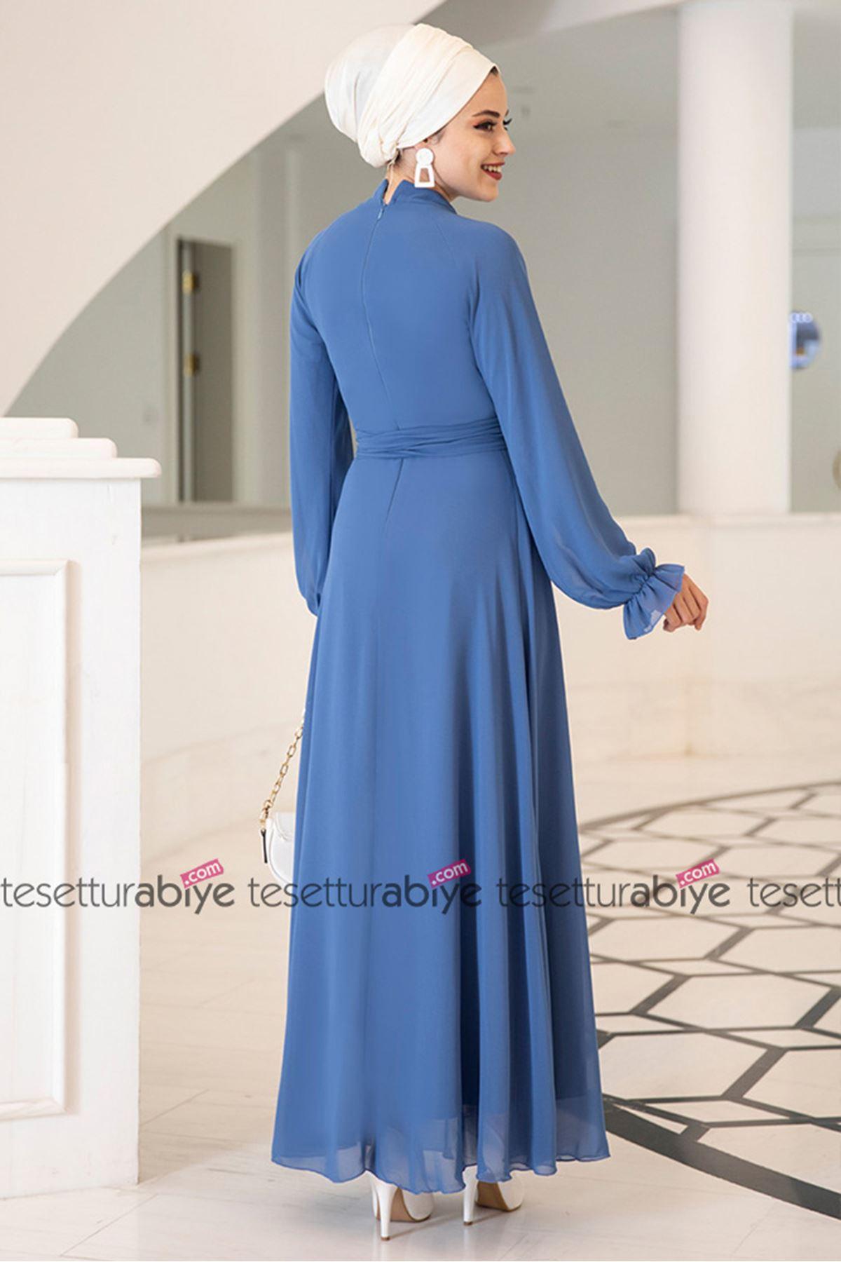 Miraç Dress Baby Blue