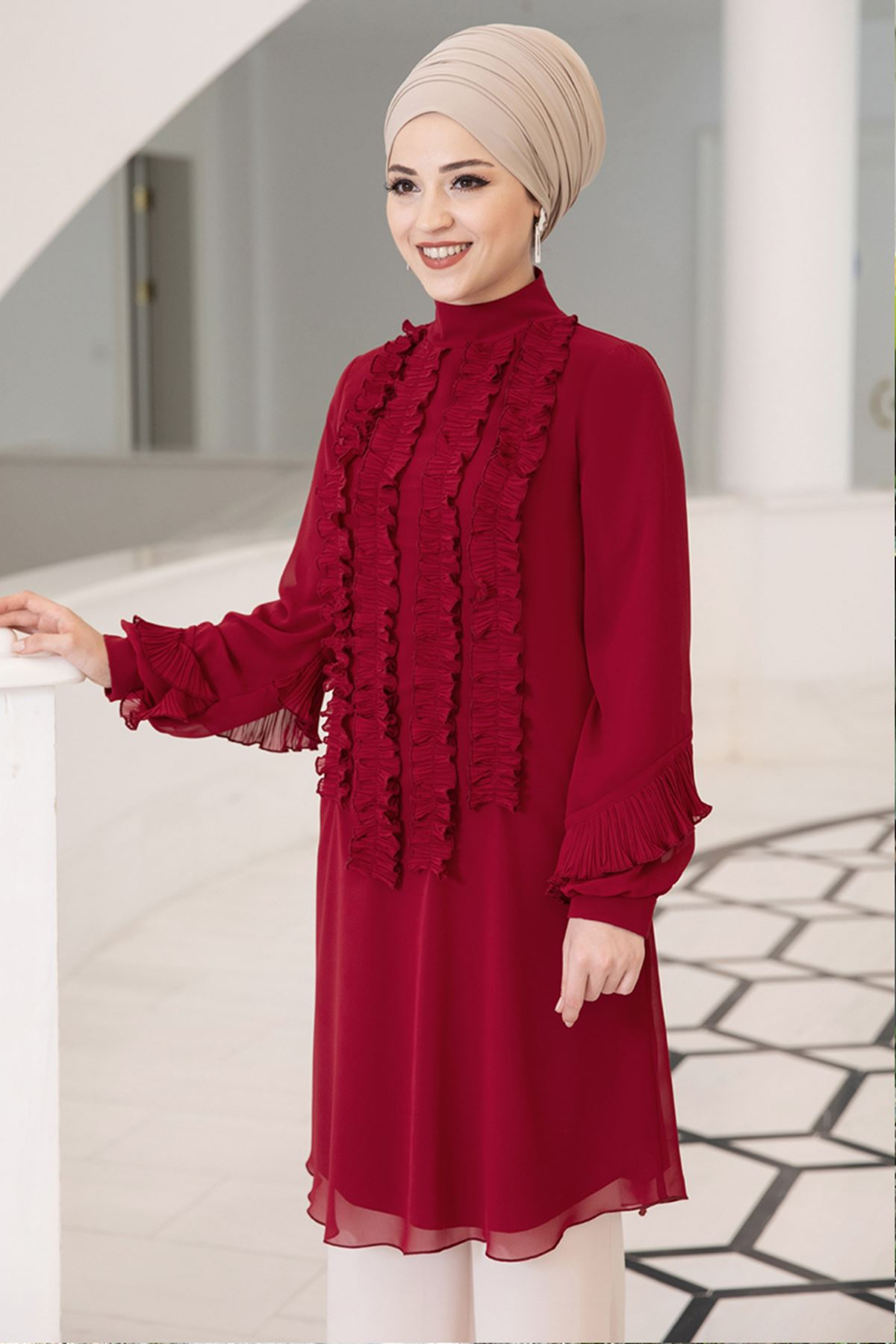 DressLife - Eylül Tunic Clared Red