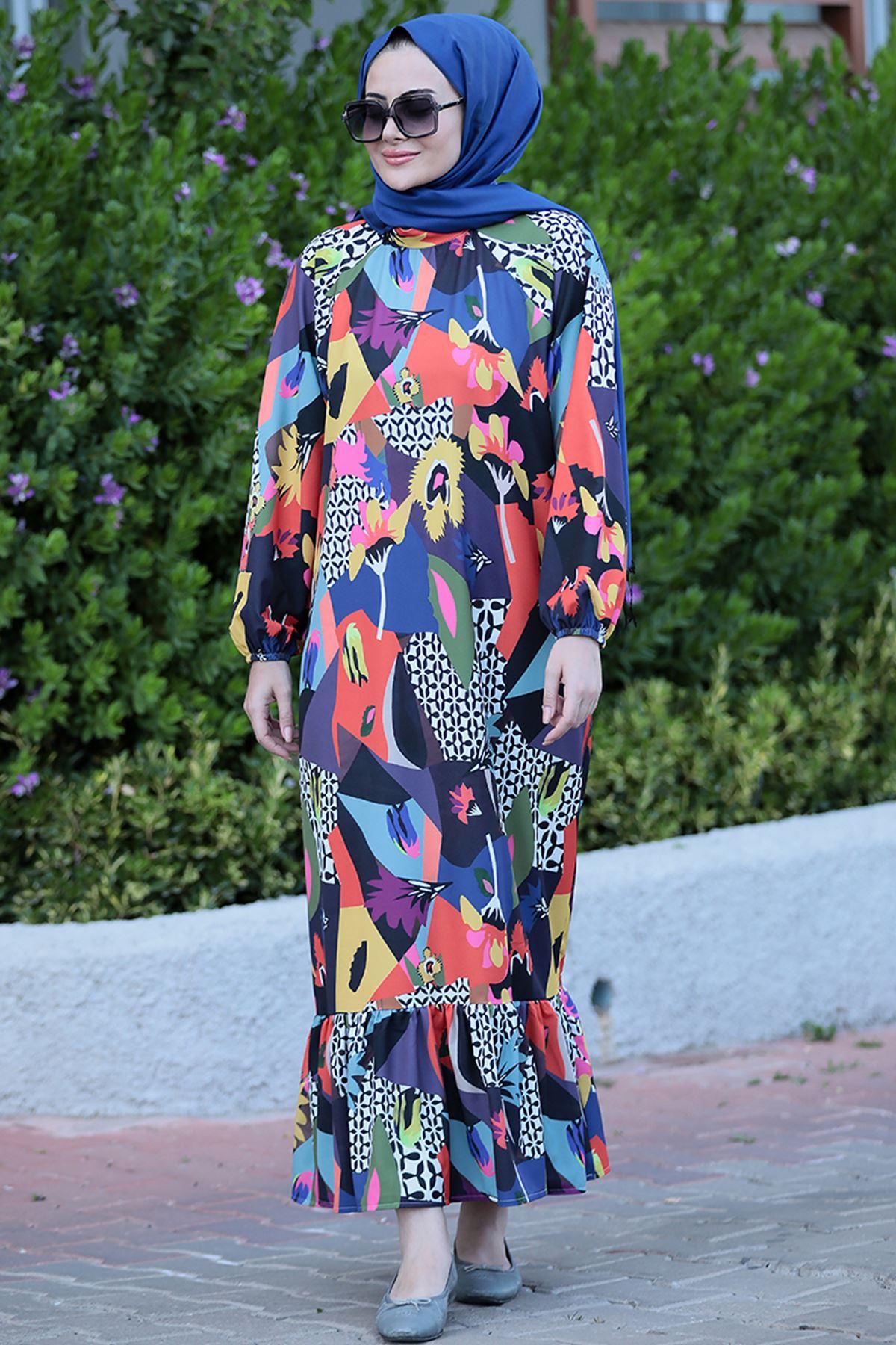 Seda Tiryaki İpek Elbise  SED3703
