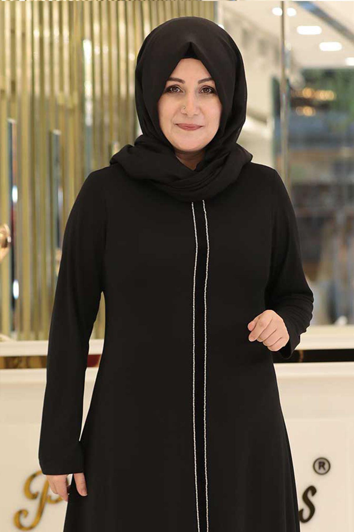 Pınar Şems Taş Şeritli Takım Siyah PNR6134