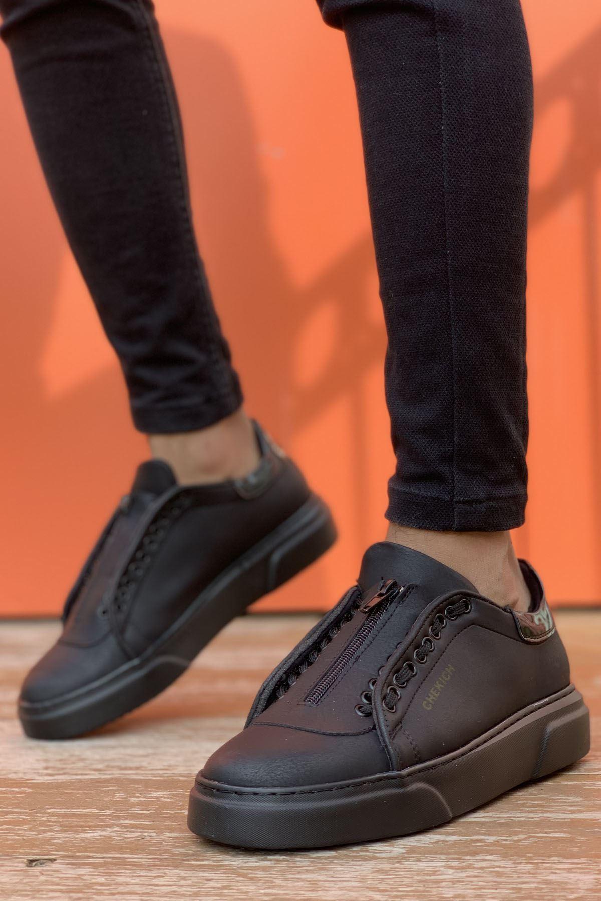 Chekich CH092 GST Erkek Ayakkabı SİYAH/RUGAN