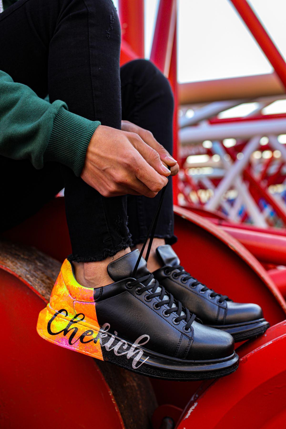 Chekich CH254 ST Erkek Ayakkabı 481 SİYAH / SARI CHEKICH