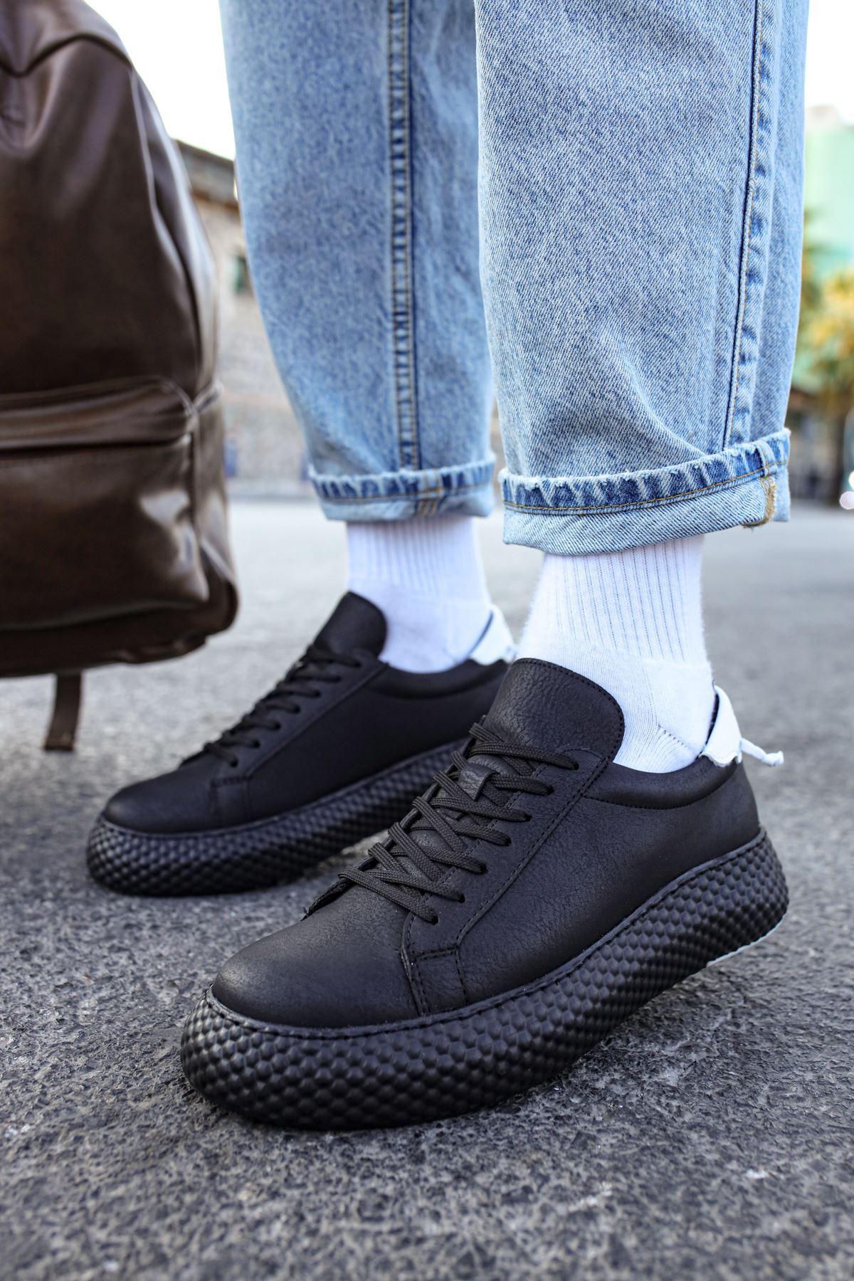 Chekich CH107 GST Erkek Ayakkabı SİYAH/BEYAZ