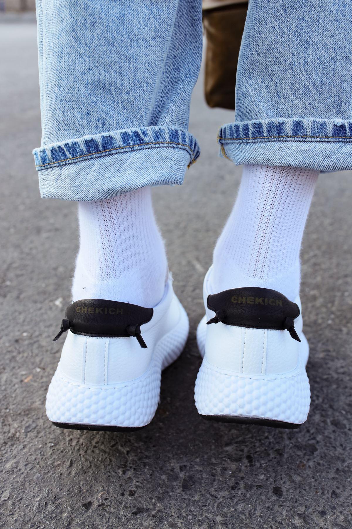Chekich CH107 GBT Erkek Ayakkabı BEYAZ/SİYAH