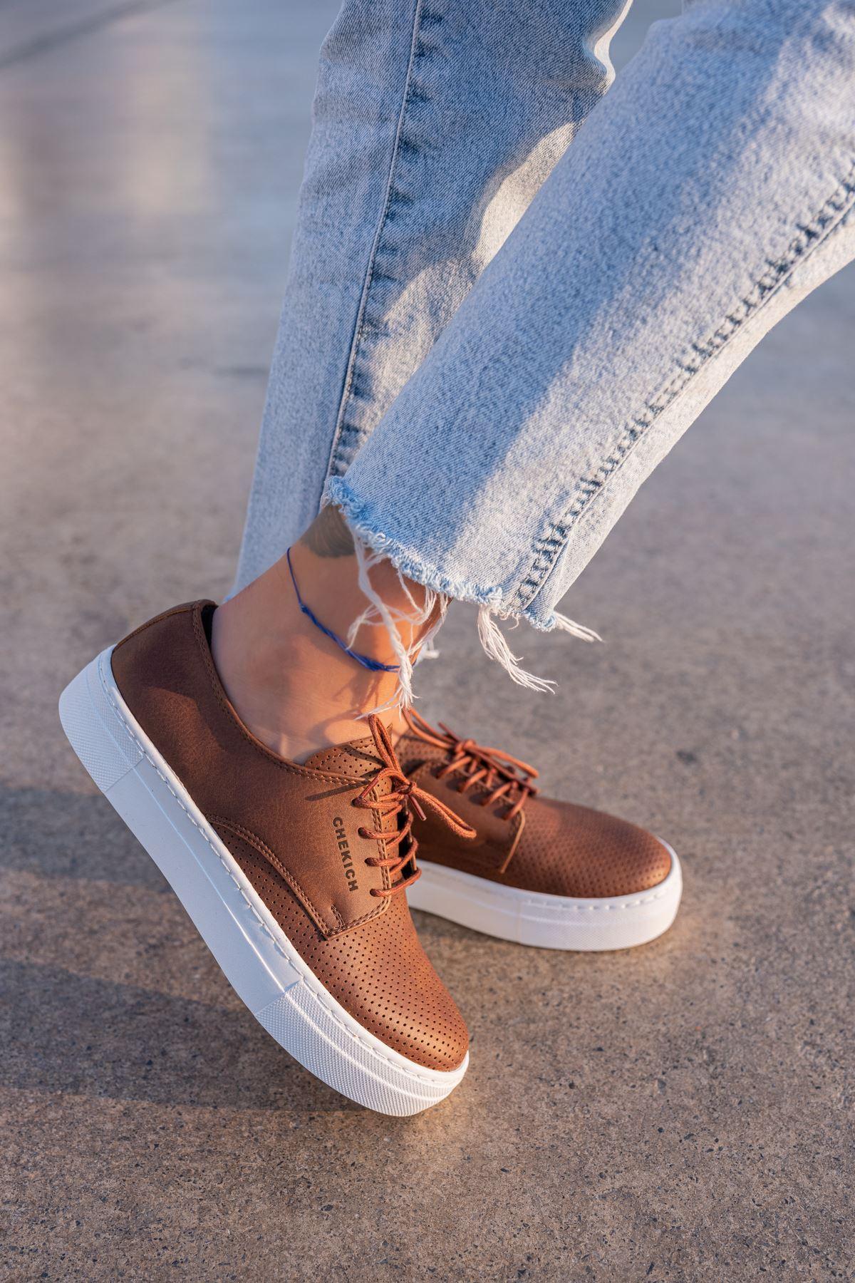 Chekich CH061 BT Kadın Ayakkabı TABA