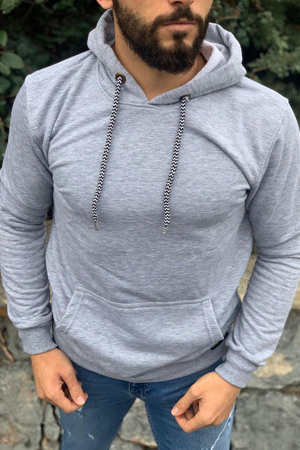 Kapüşonlu Sweatshirt GRİ