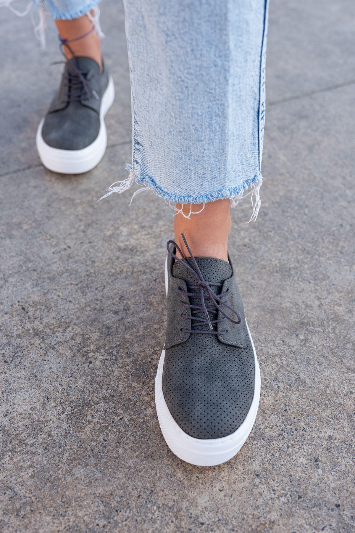 Chekich CH061 BT Kadın Ayakkabı ANTRASIT