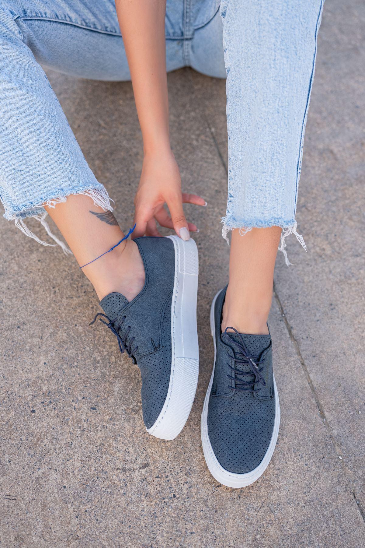 Chekich CH061 BT Kadın Ayakkabı LACIVERT