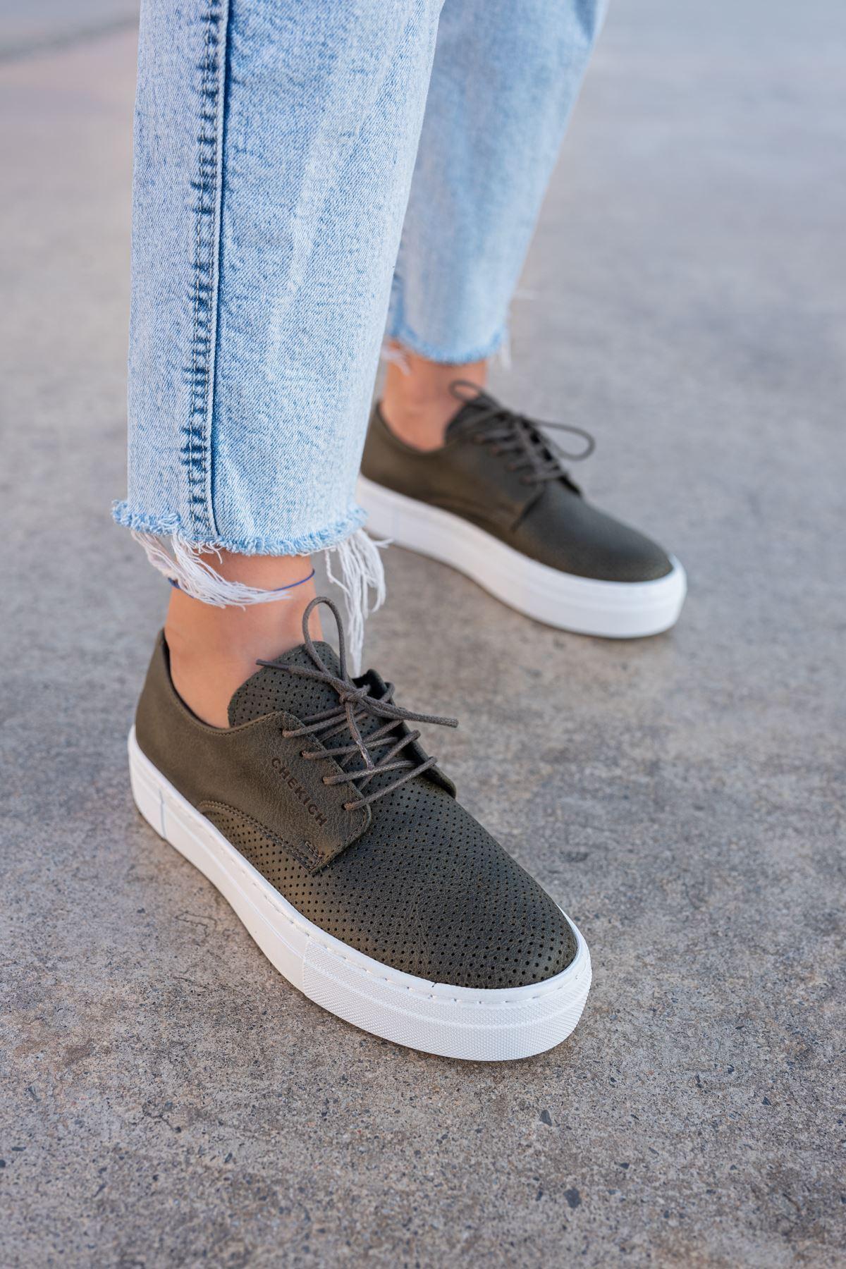Chekich CH061 BT Kadın Ayakkabı HAKİ