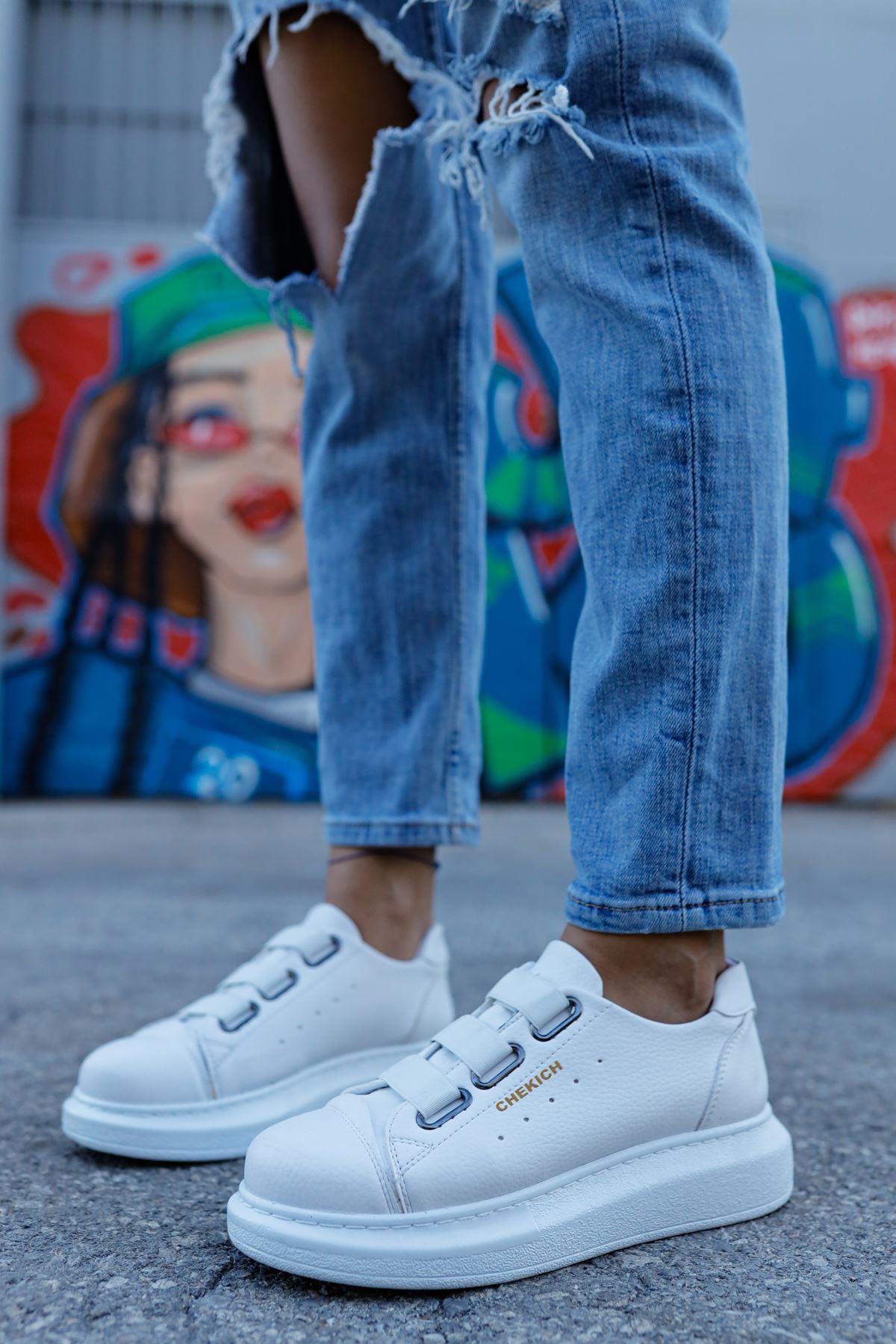 Chekich CH253 BT Kadın Ayakkabı BEYAZ