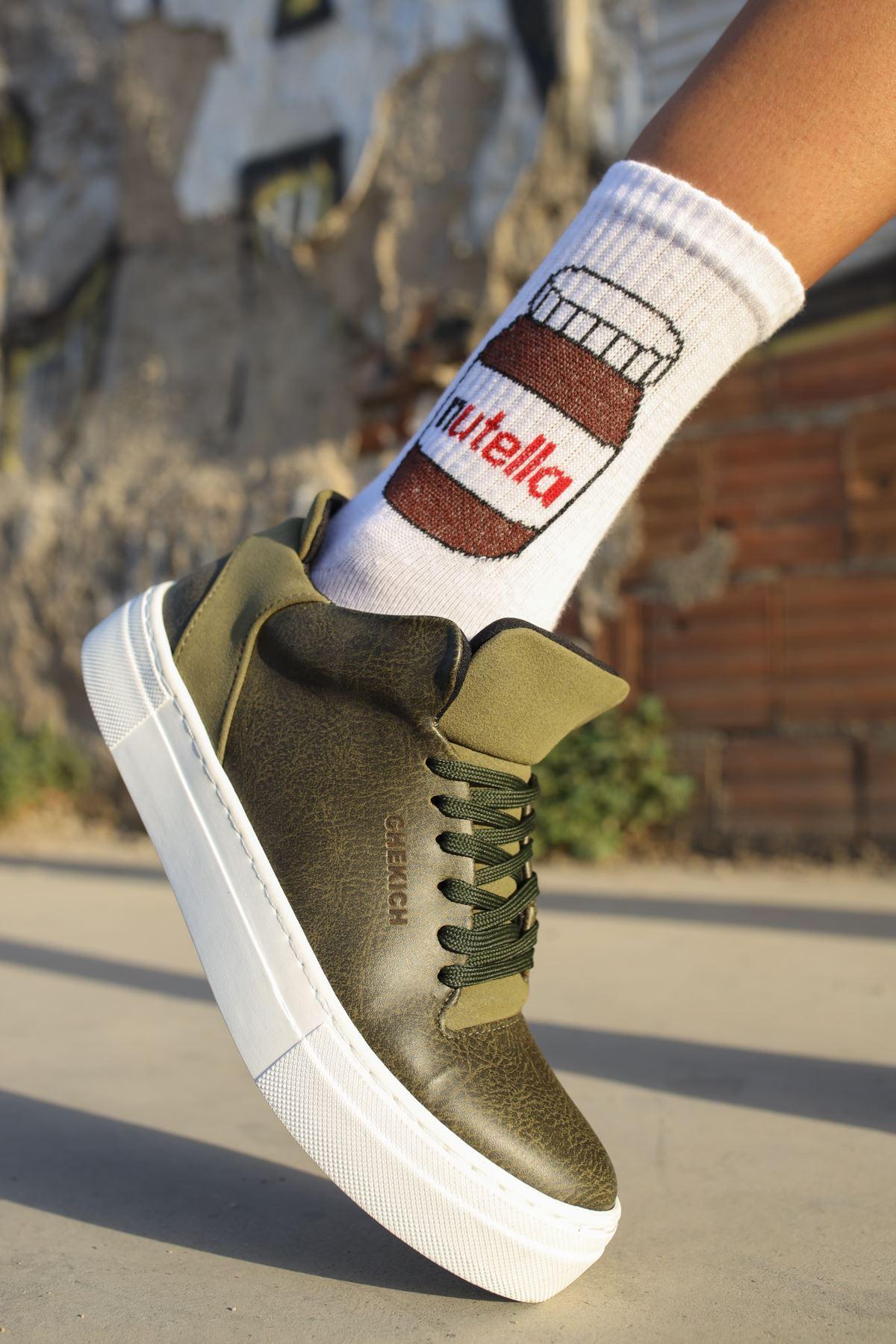 Chekich CH004 BT Kadın Ayakkabı HAKİ