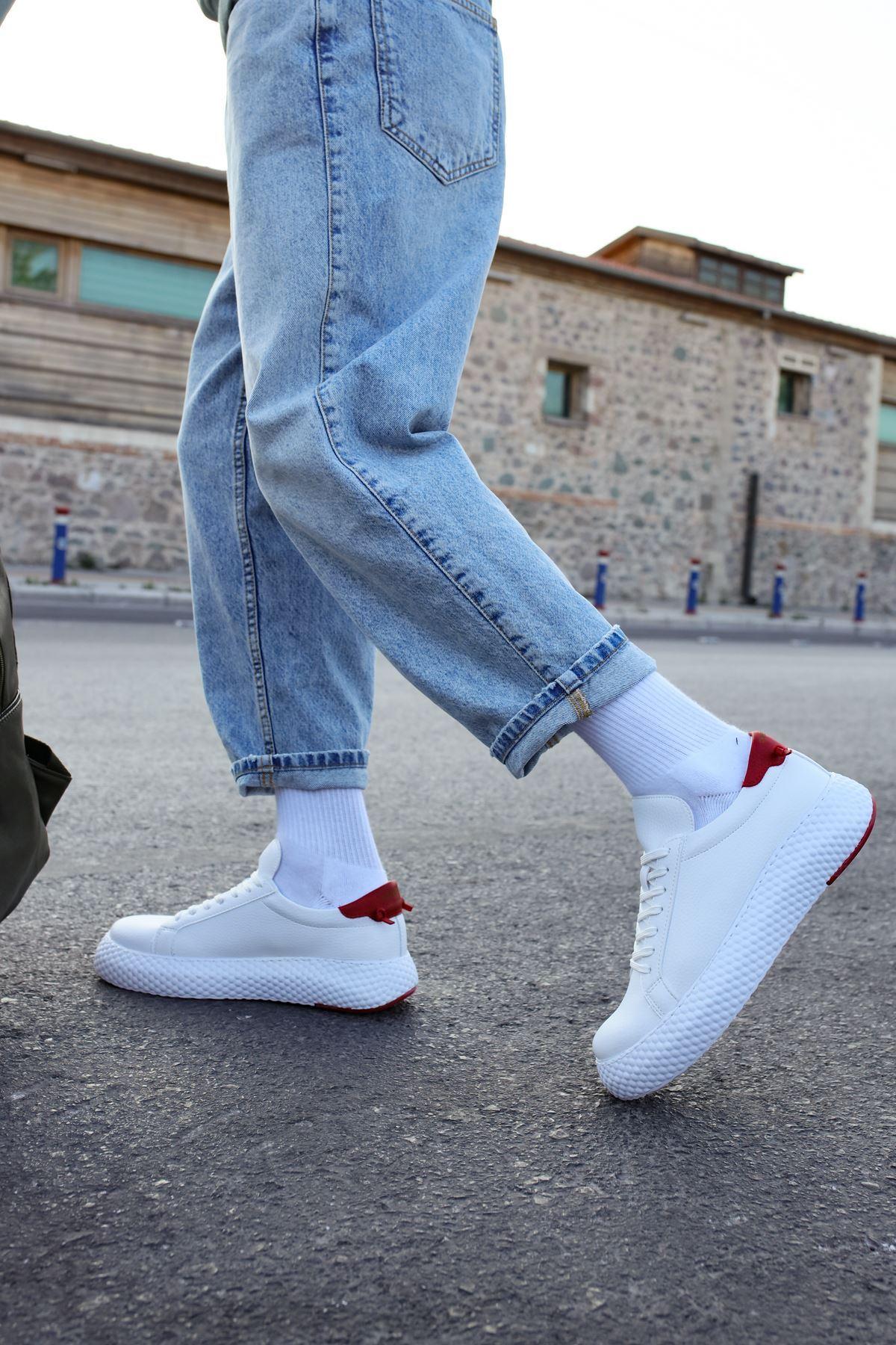 Chekich CH107 GBT Erkek Ayakkabı BEYAZ/KIRMIZI
