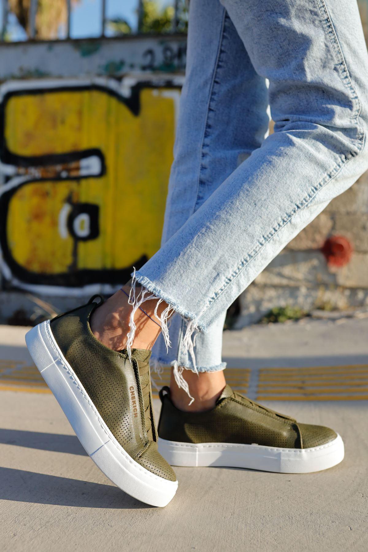 Chekich CH011 BT Kadın Ayakkabı HAKİ