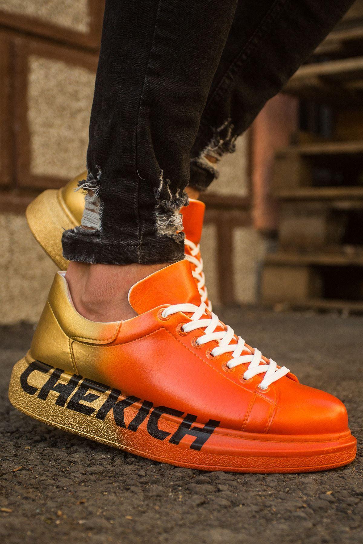 Chekich CH254 BT Erkek Ayakkabı 433 TURUNCU / SARI CHEKICH