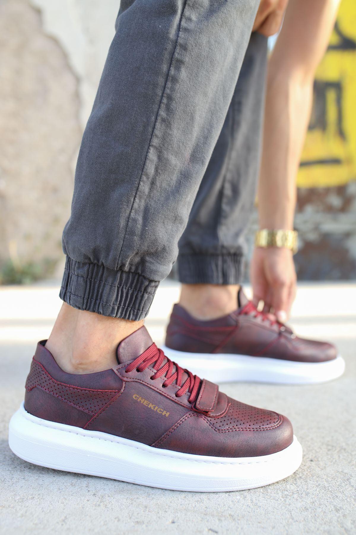 Chekich CH073 BT Erkek Ayakkabı BORDO