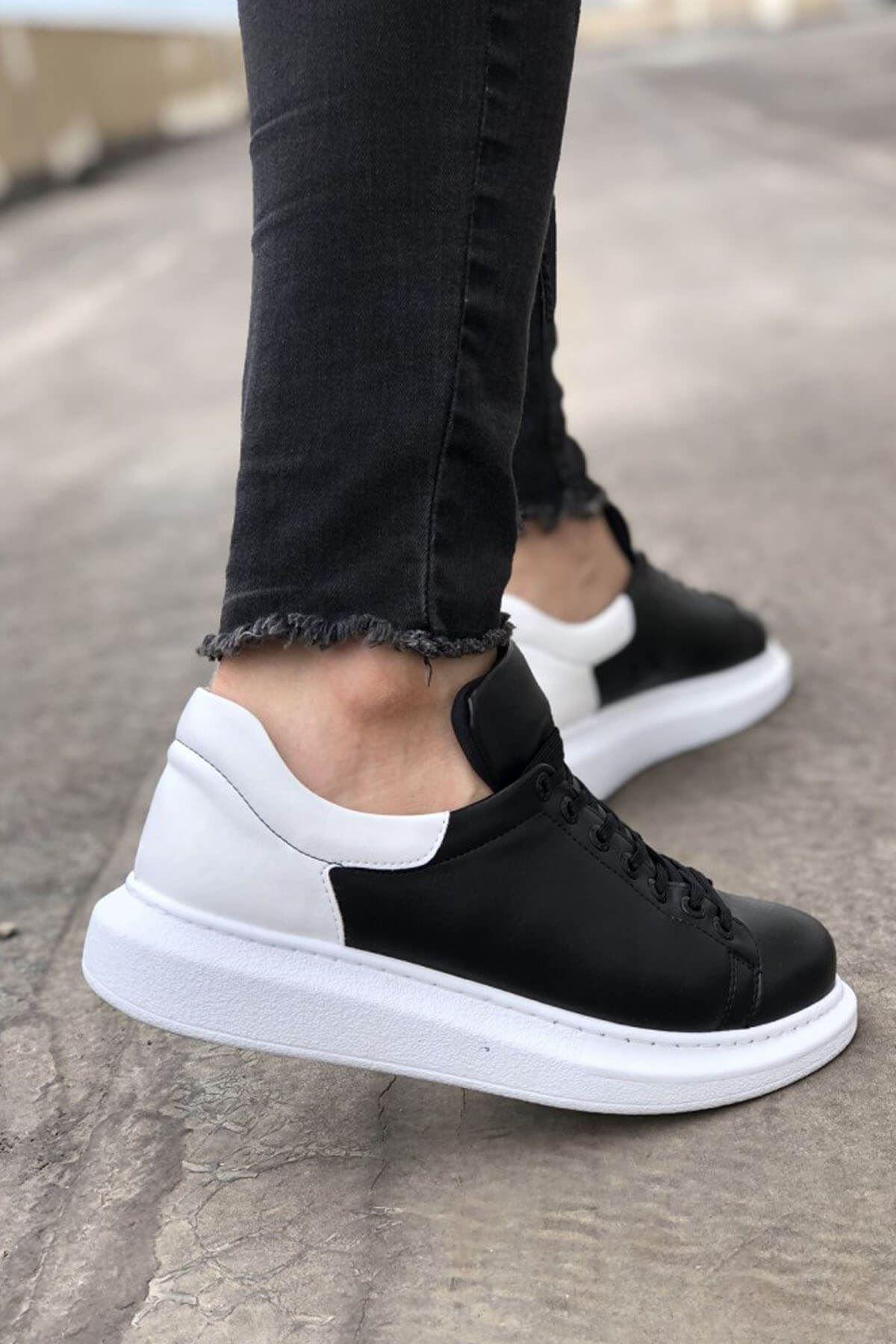 Chekich CH256 BT  Erkek Ayakkabı SİYAH/BEYAZ