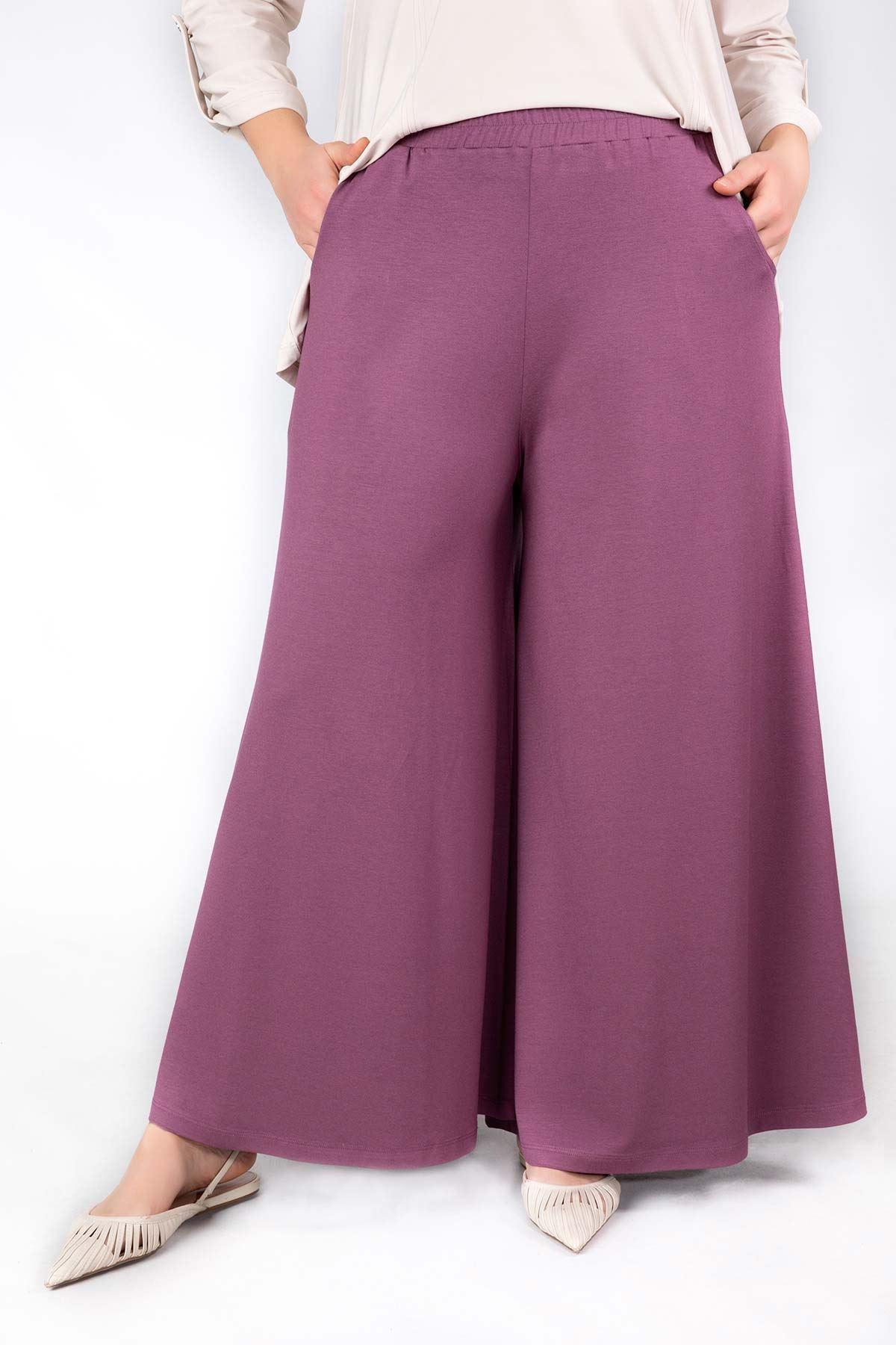Viskon Etek Pantolon Violet 10002