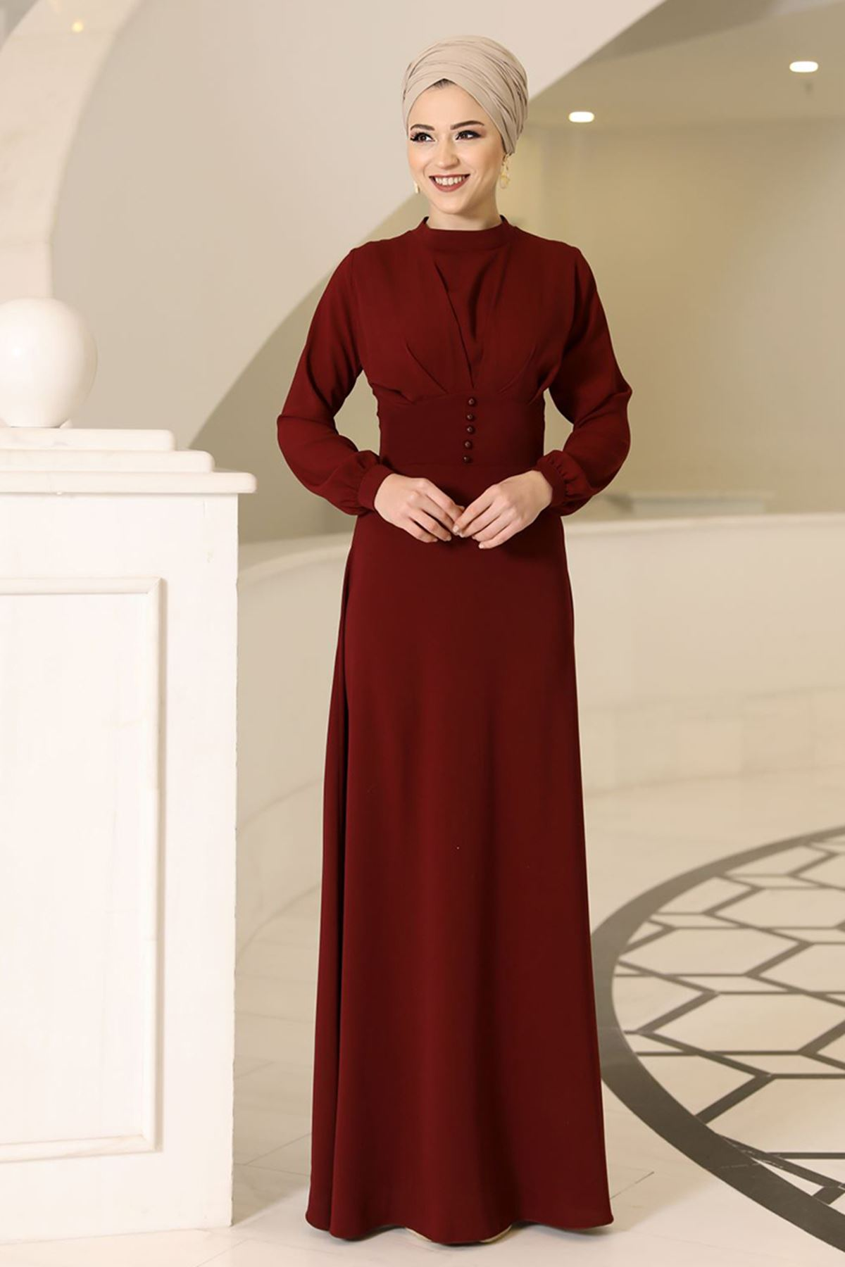 DressLife Ahsen Elbise Bordo DRE2020