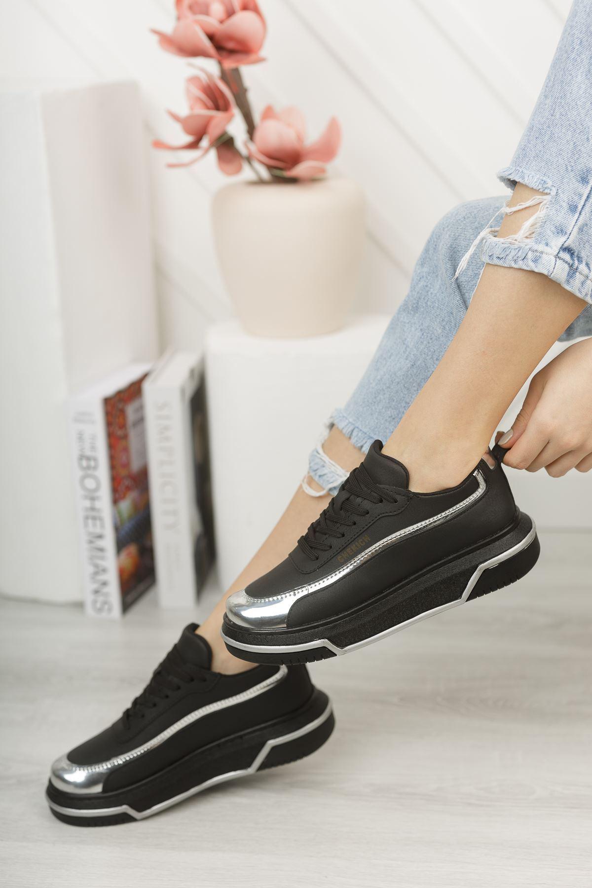 Chekich CH041 ST Kadın Ayakkabı SİYAH/GUMUS