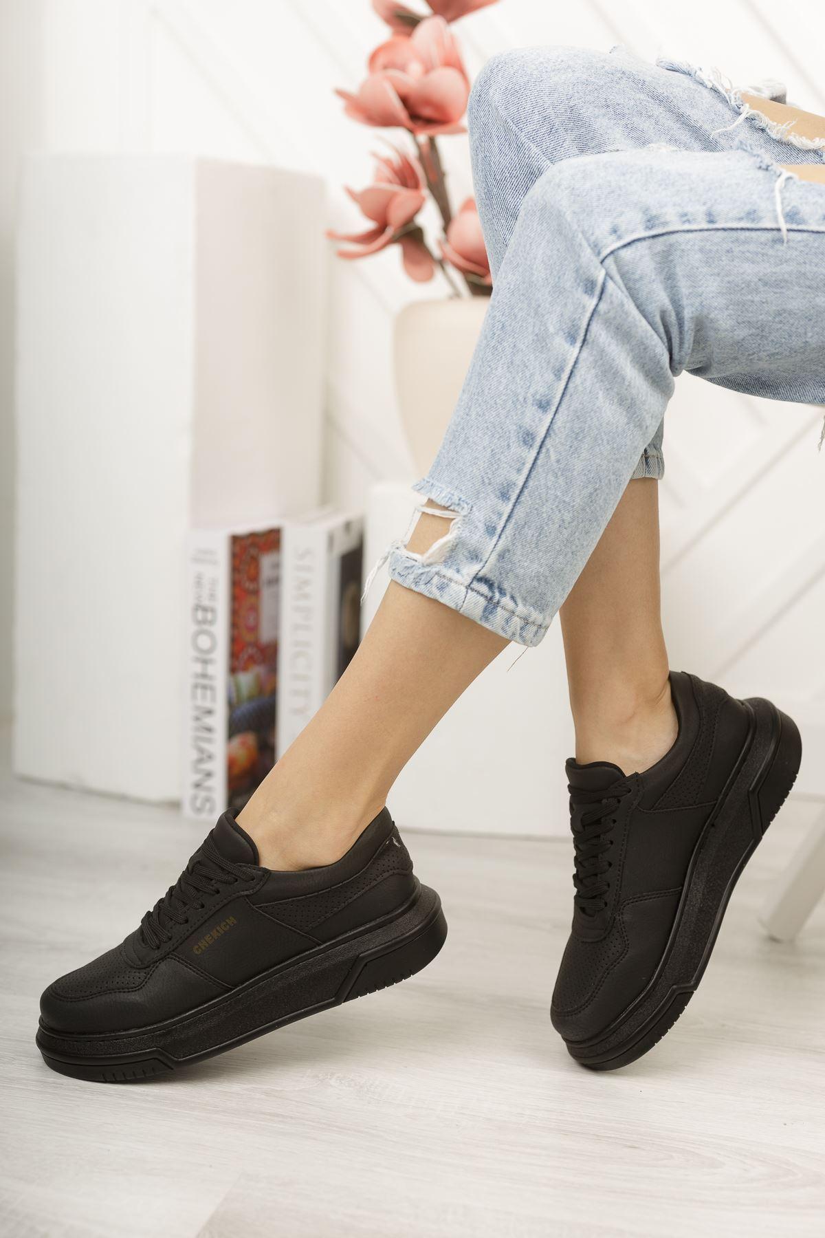 Chekich CH075 İpekyol ST Kadın Ayakkabı SIYAH