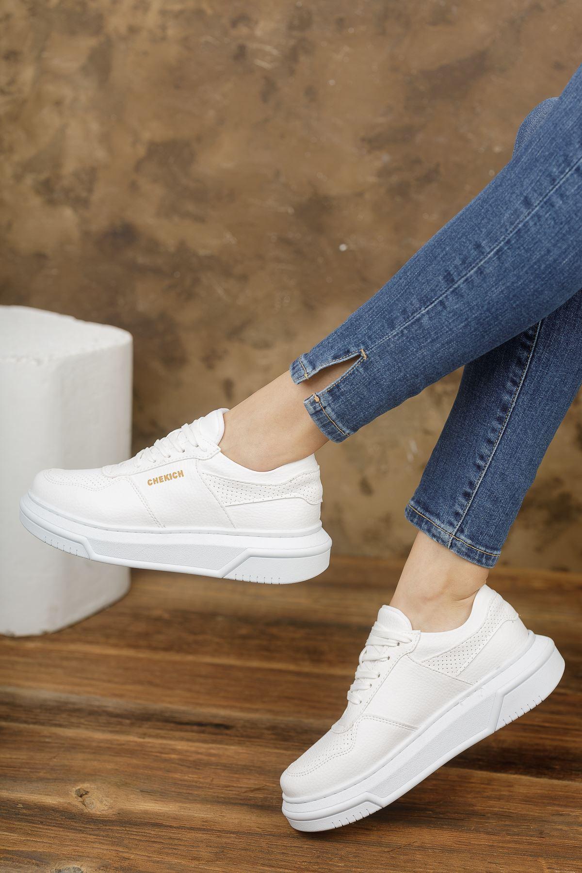 Chekich CH075 İpekyol BT Kadın Ayakkabı BEYAZ
