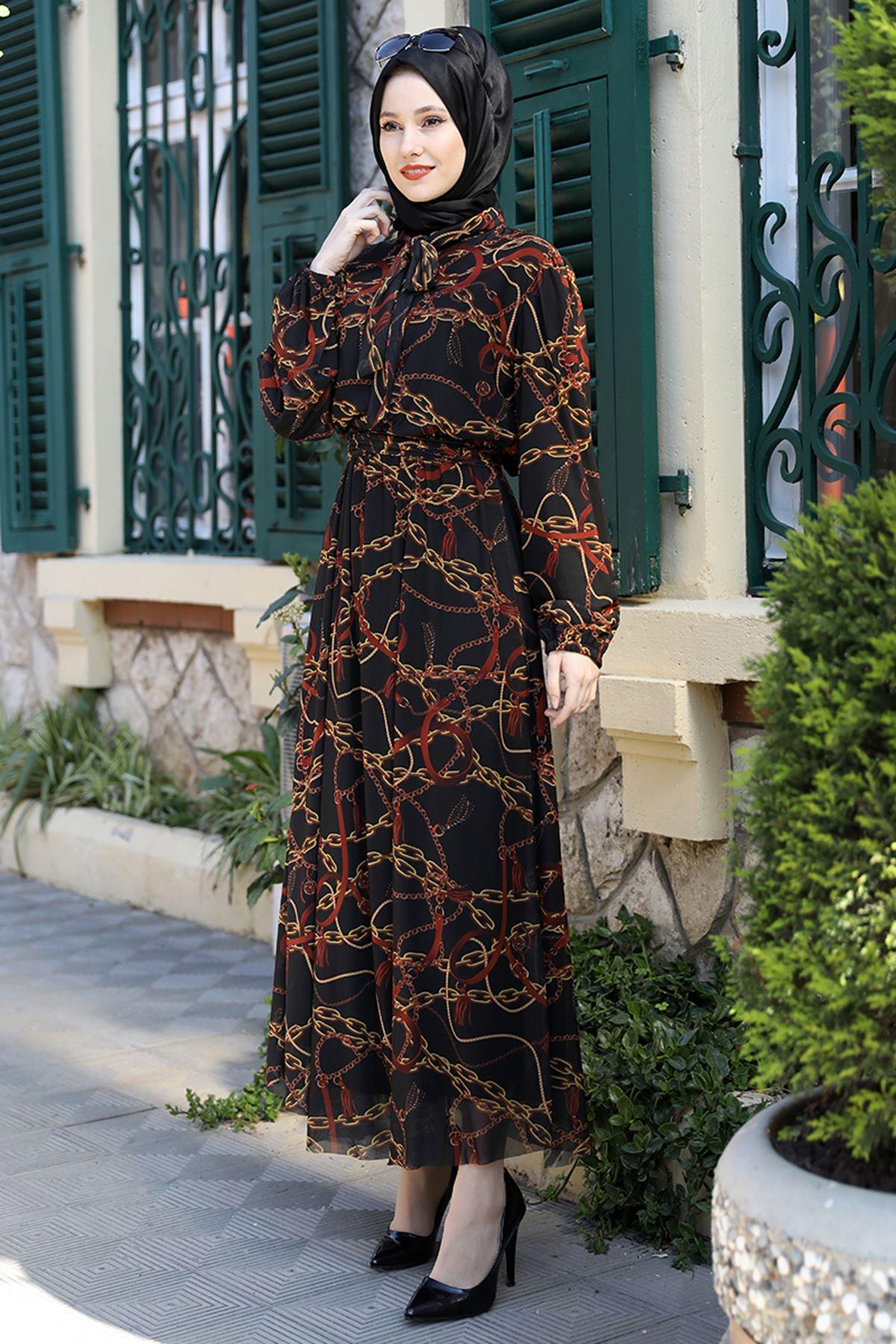 Emsale Lorin Elbise Kiremit EMS8331