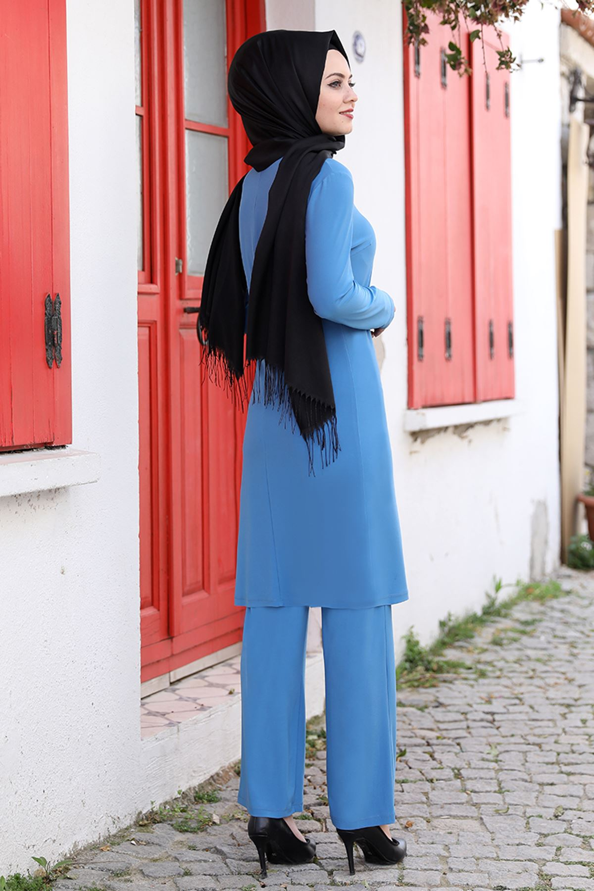 Ahunisa Seren İkili Takım Mavi AHU9317