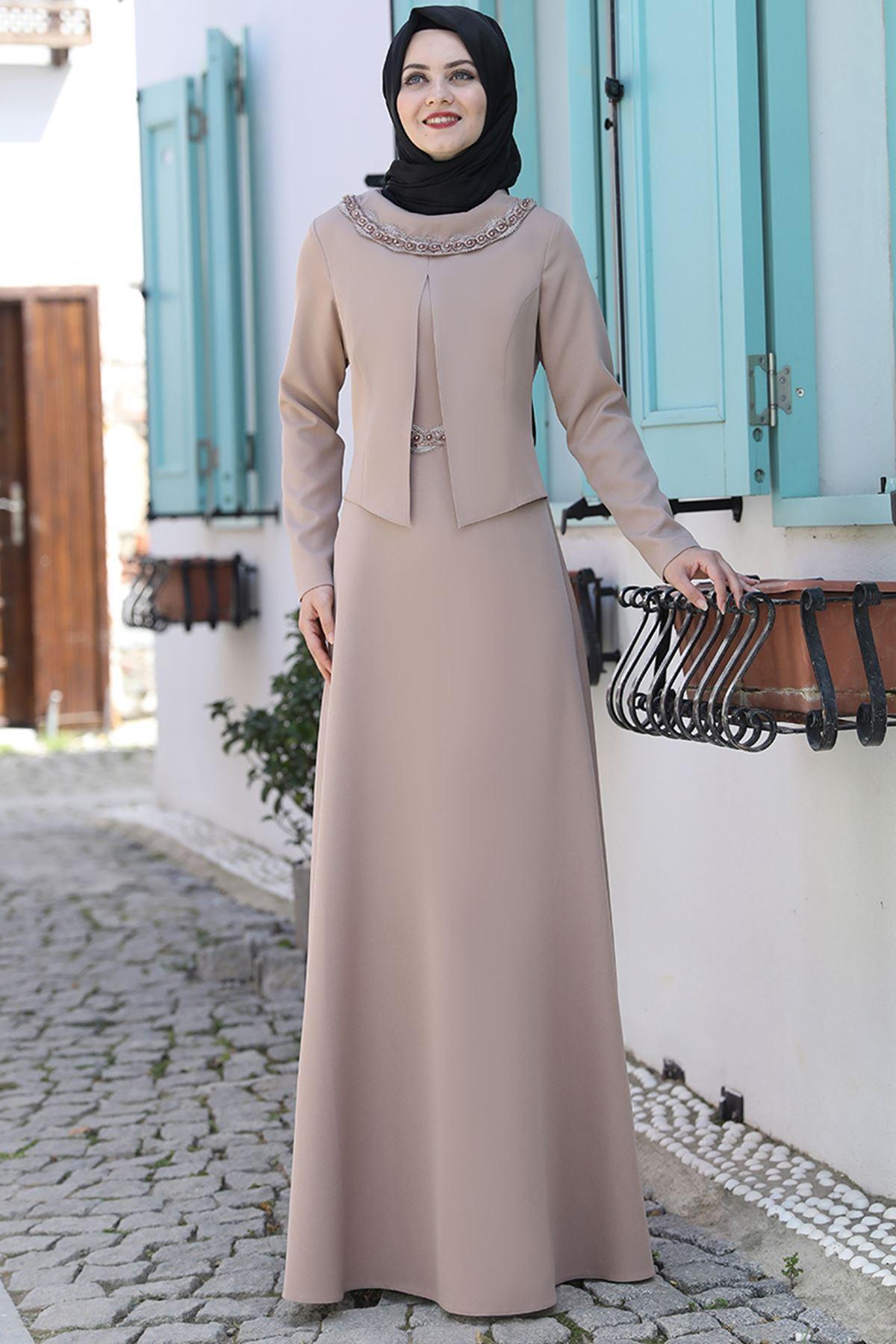 Ahunisa Ayliz Elbise Vizon AHU9318
